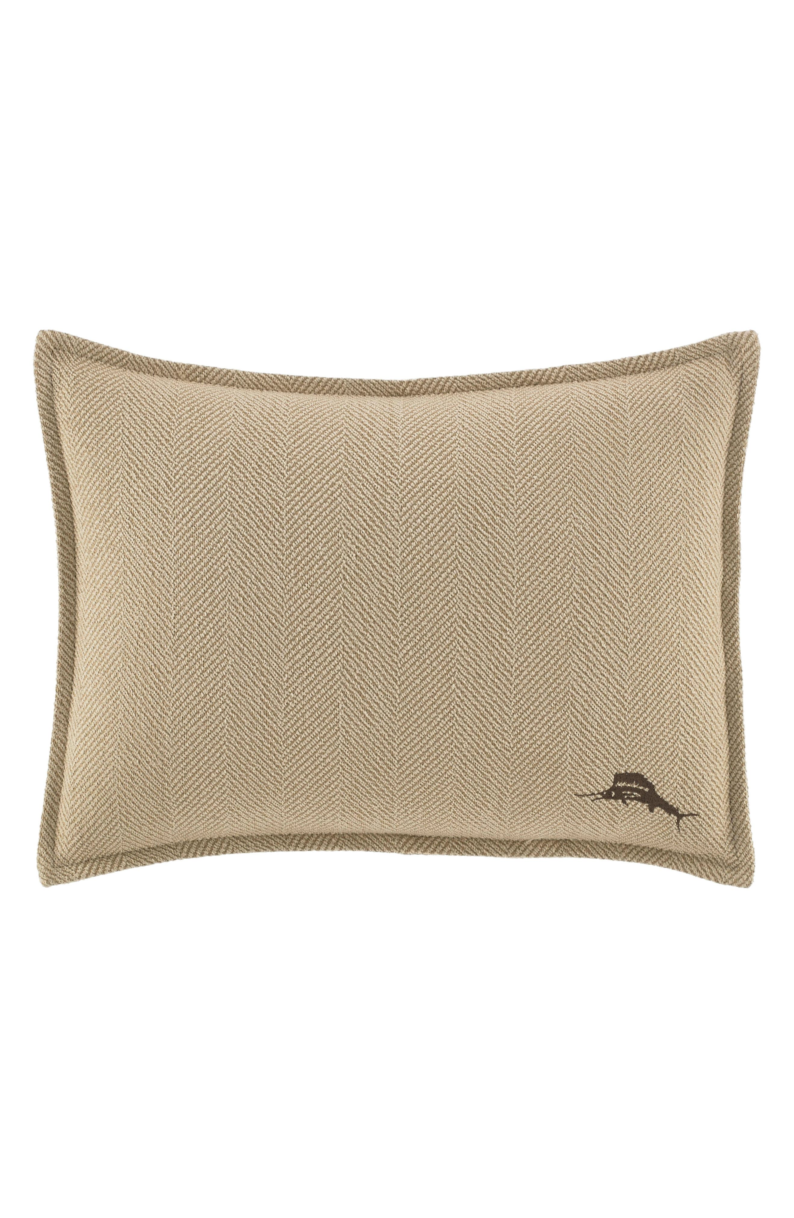 Main Image - Tommy Bahama Stripe Canvas Accent Pillow
