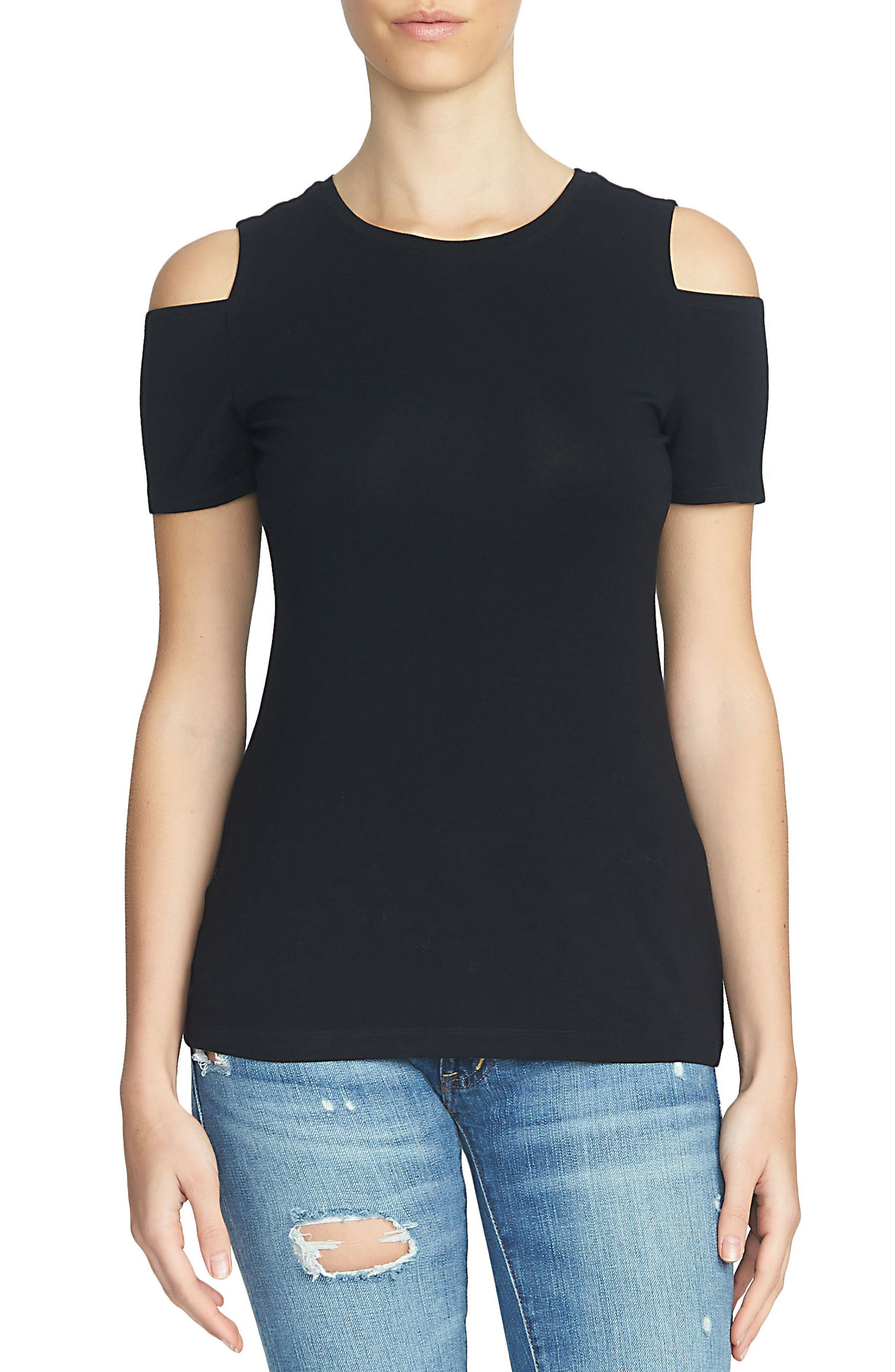 Alternate Image 1 Selected - 1.STATE Cold Shoulder Tee