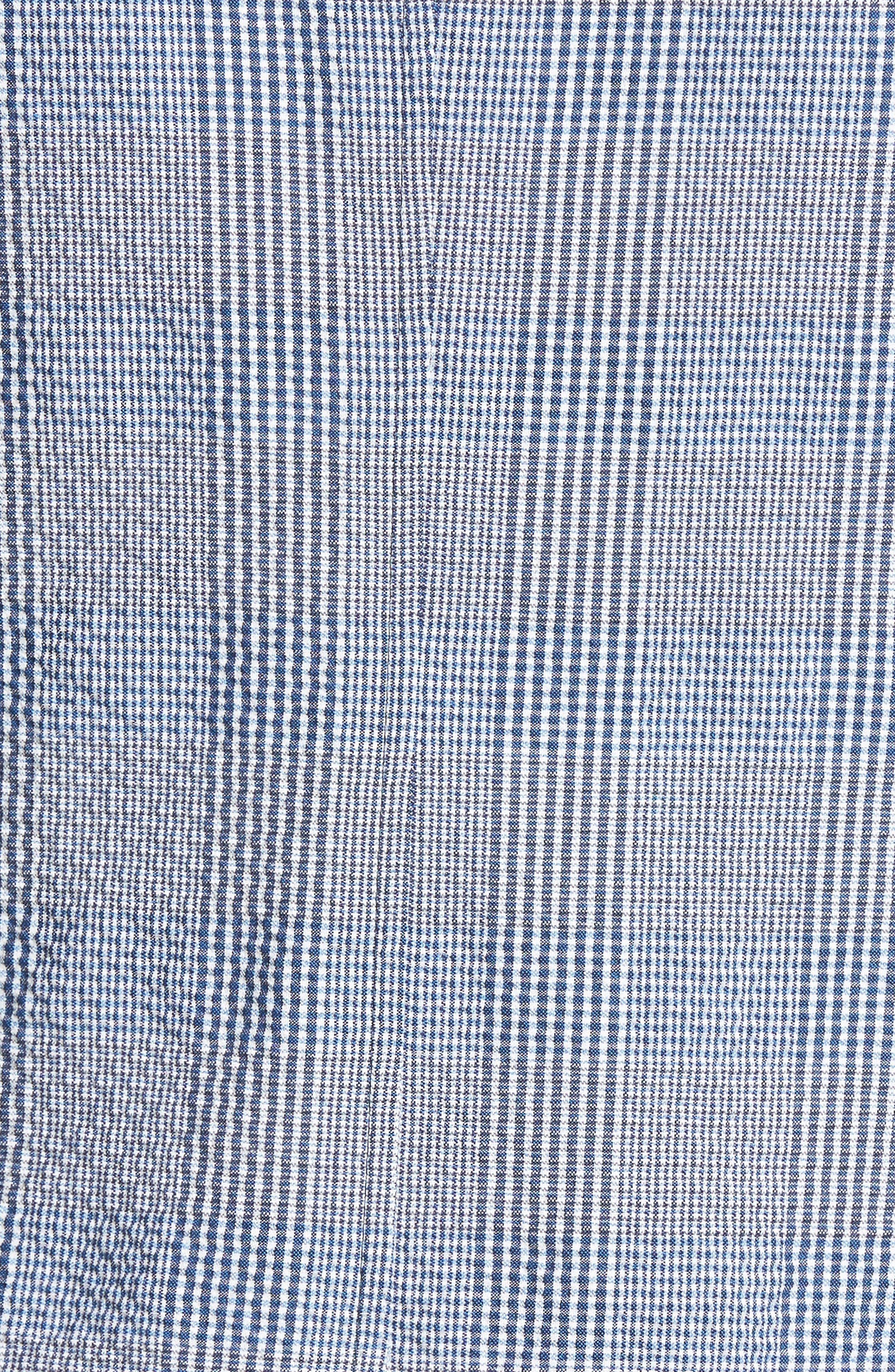 Babbitt Plaid Seersucker Sport Coat,                             Alternate thumbnail 5, color,                             Blue
