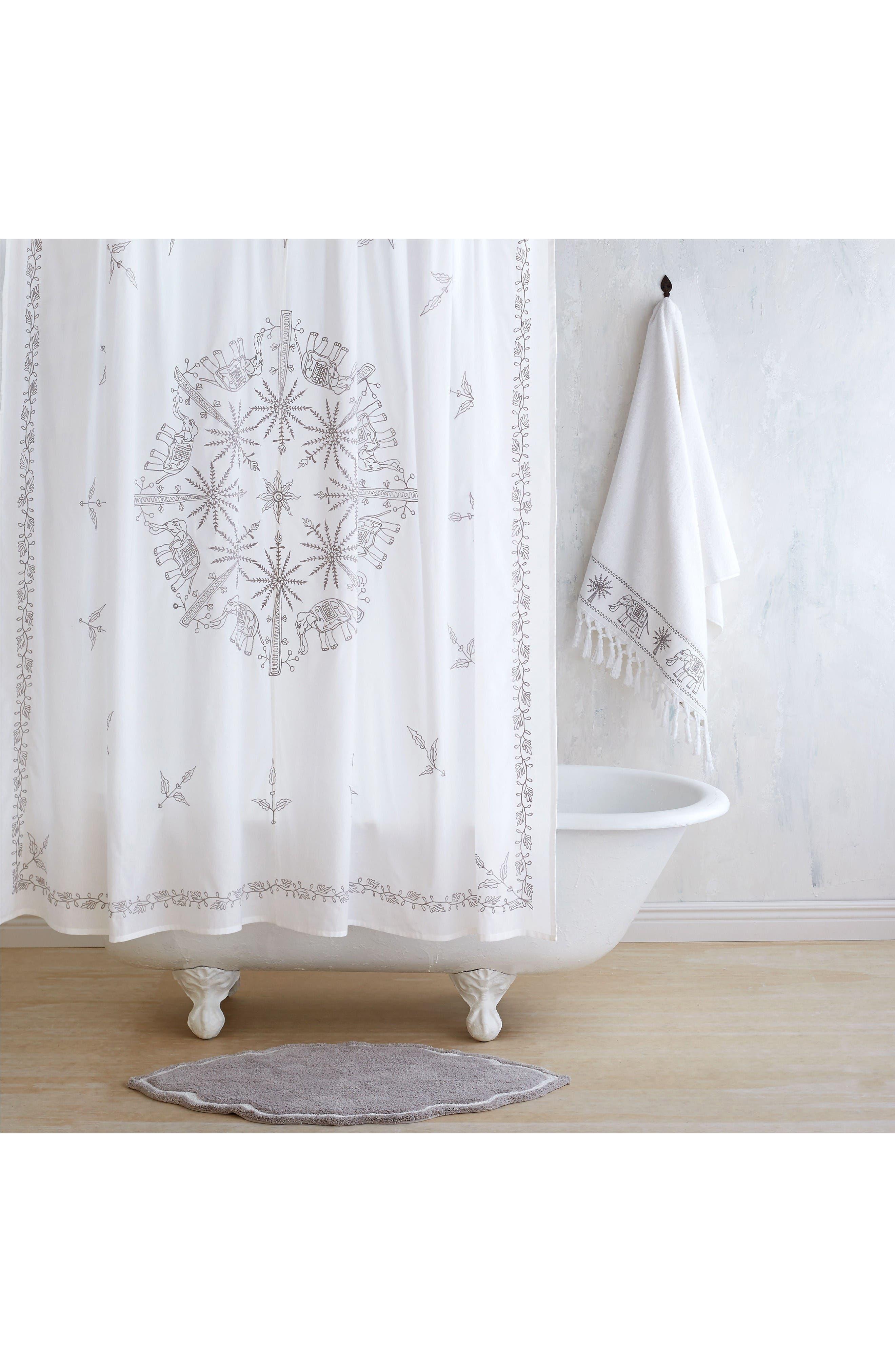 Yaji Shower Curtain,                         Main,                         color, Grey