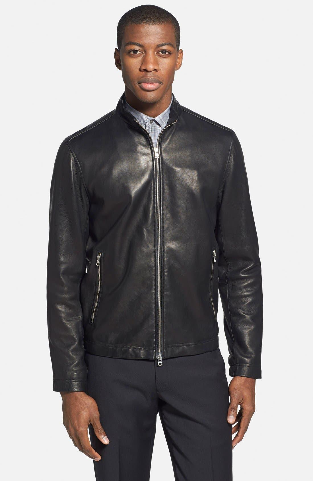 Main Image - Theory 'Morvek L.Kelleher' Sheepskin Leather Jacket