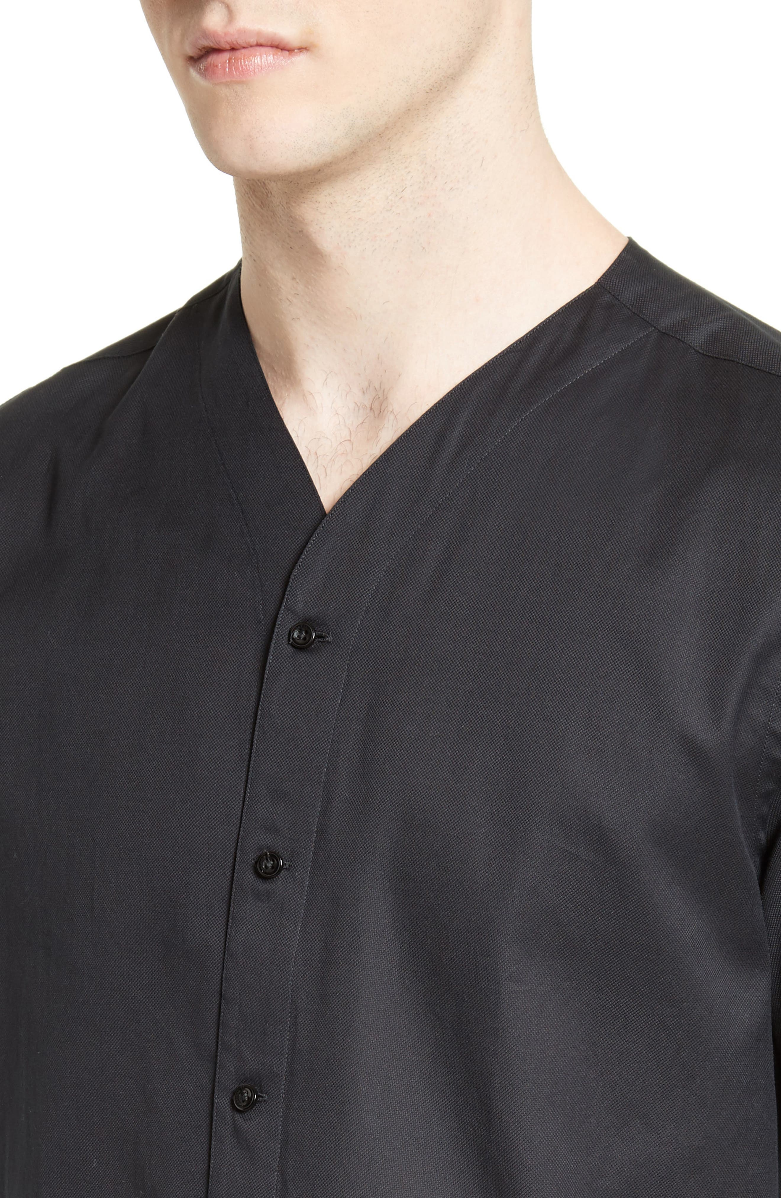 Alternate Image 4  - The Kooples Classic Cotton Woven V-Neck Shirt