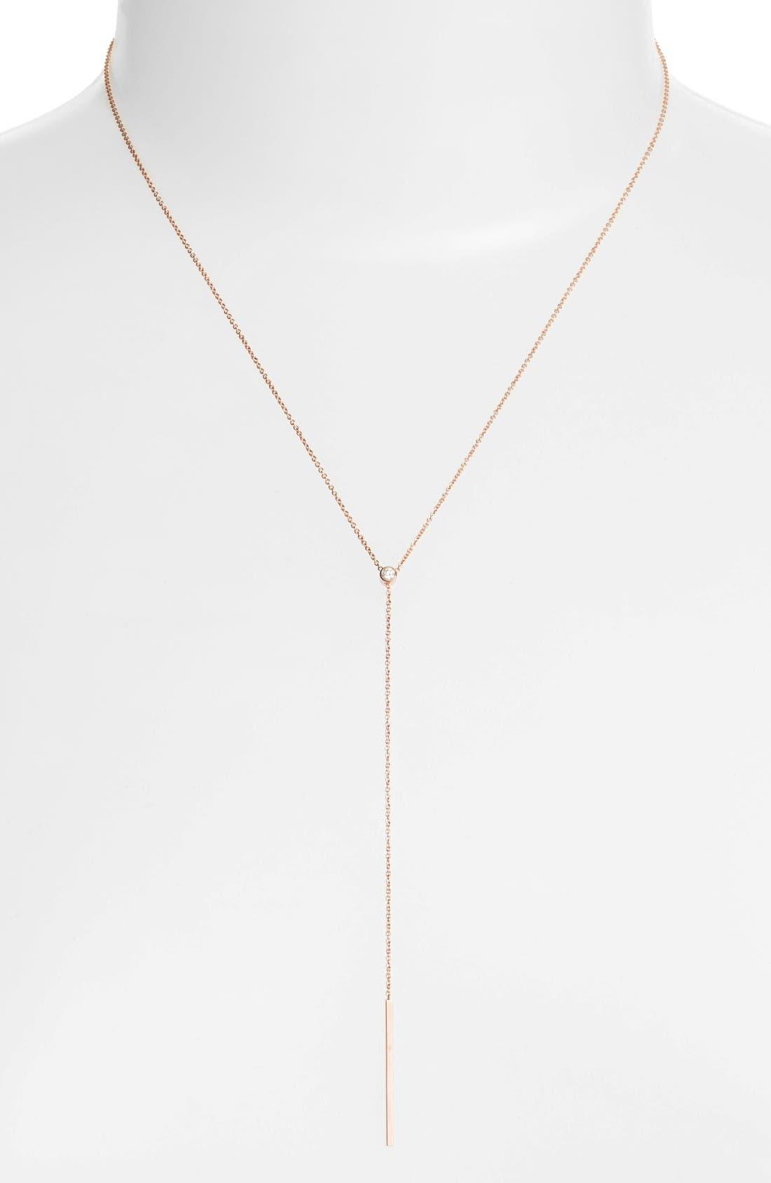 Zoë Chicco Diamond Bezel Y-Necklace