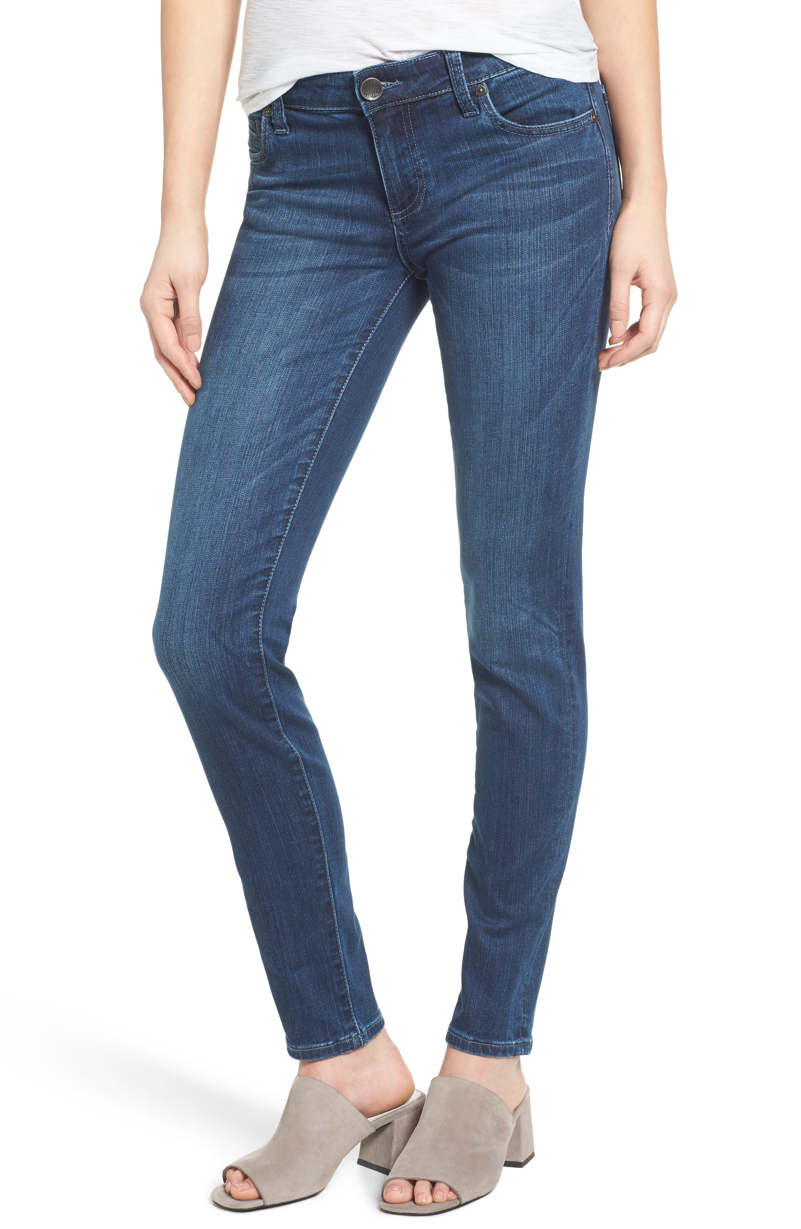 Alternate Image 1 Selected - KUT from the Kloth Diana Stretch Skinny Jeans (Moderation) (Regular & Petite)