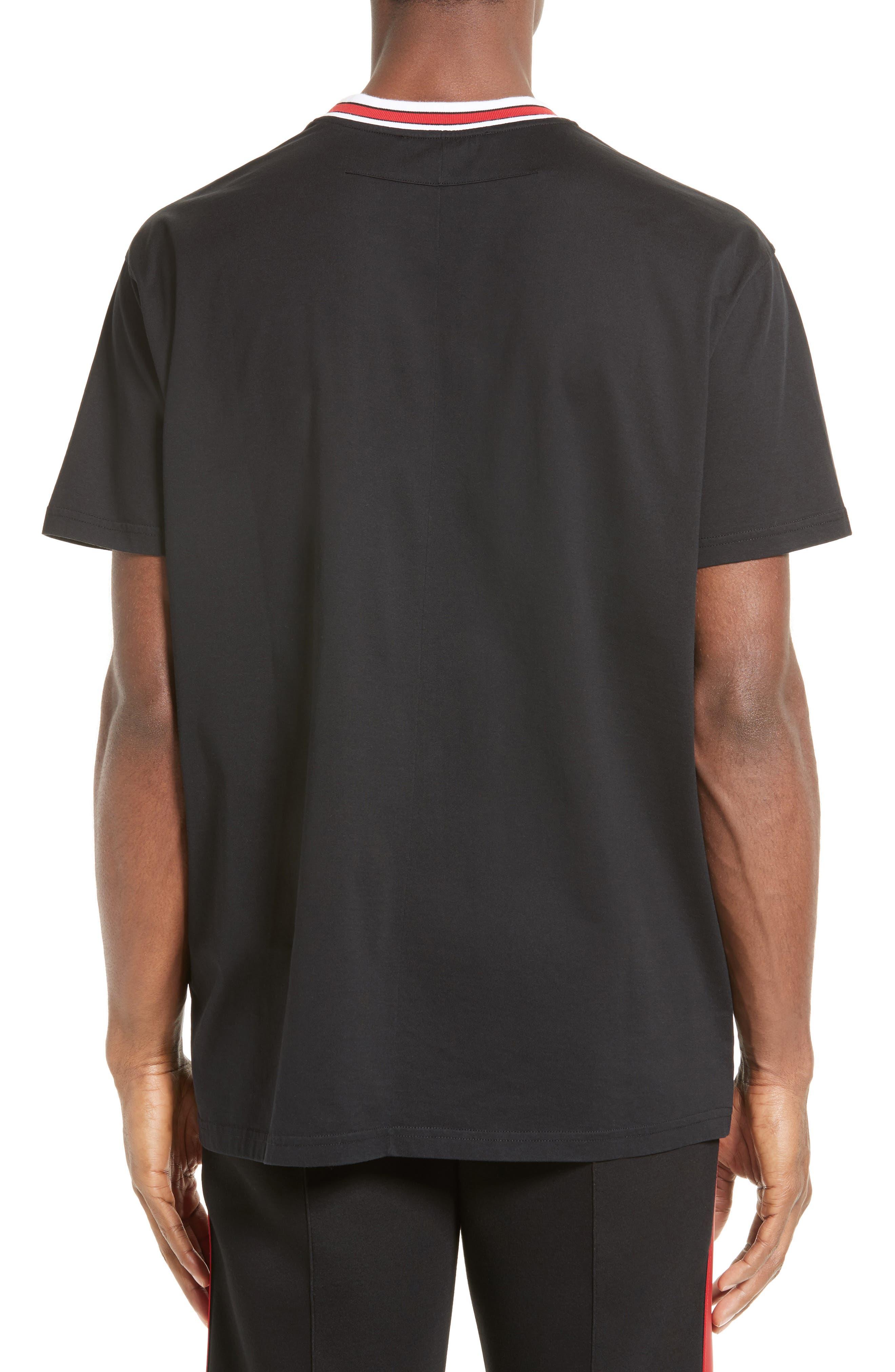 Logo Print Crewneck T-Shirt,                             Alternate thumbnail 2, color,                             Black