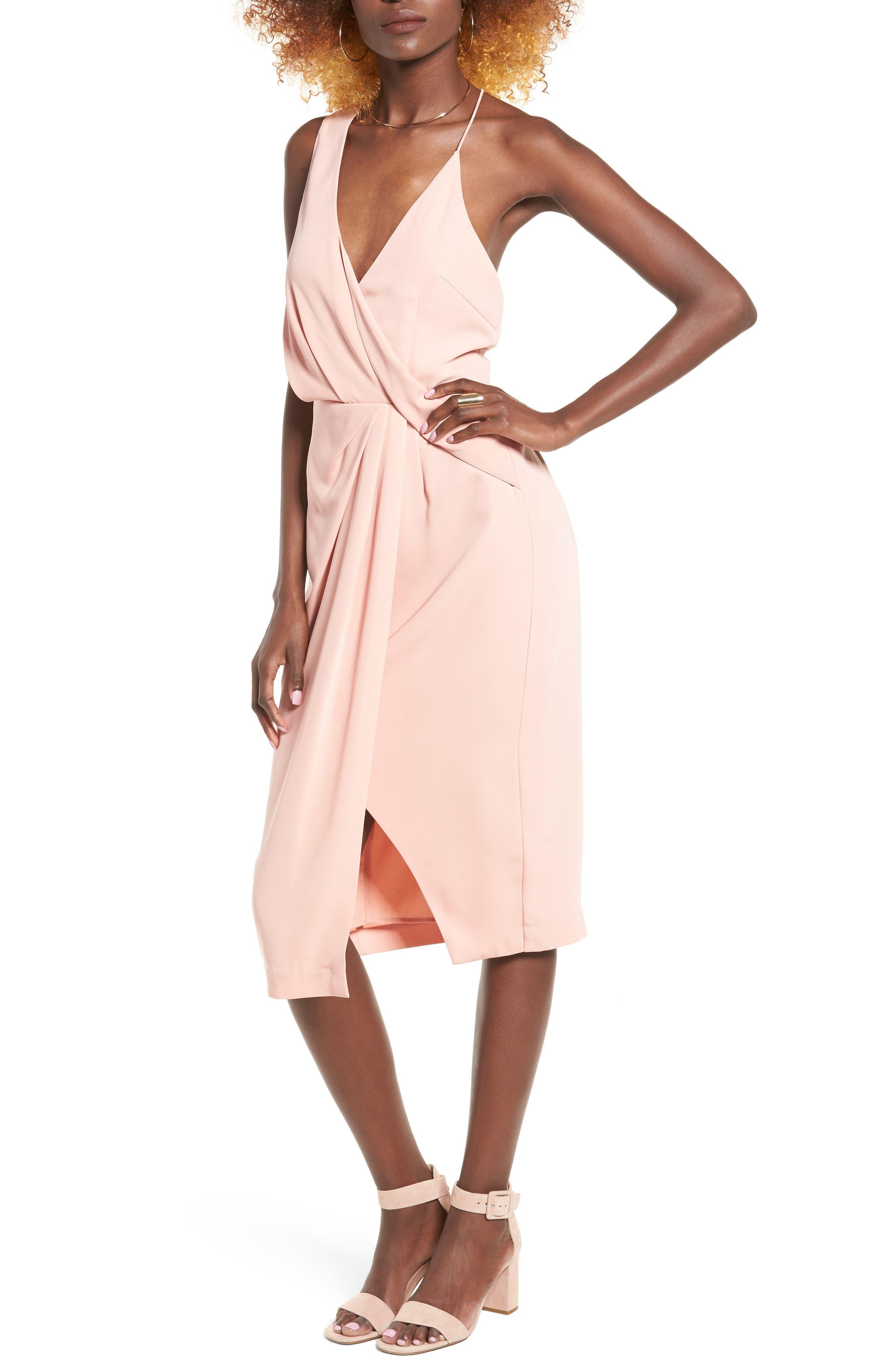 Main Image - Keepsake the Label Without You Asymmetrical Midi Dress