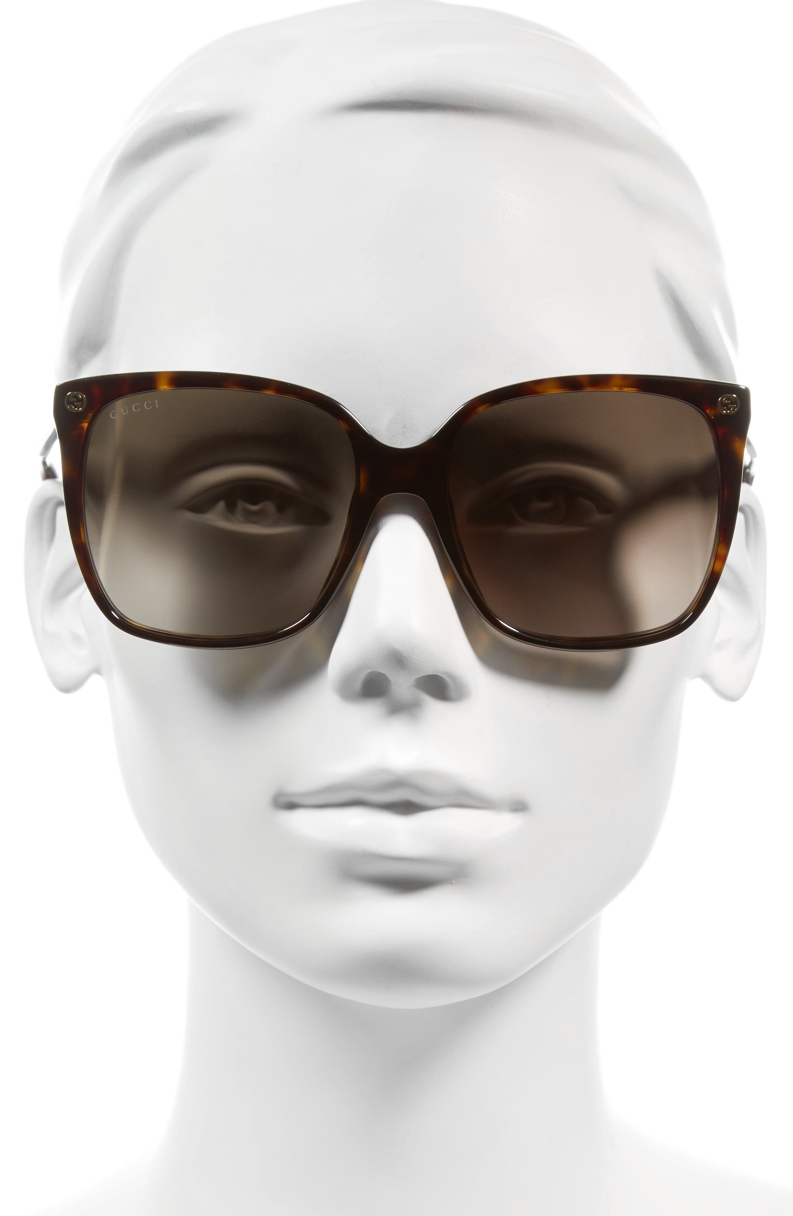 Alternate Image 2  - Gucci 57mm Square Sunglasses