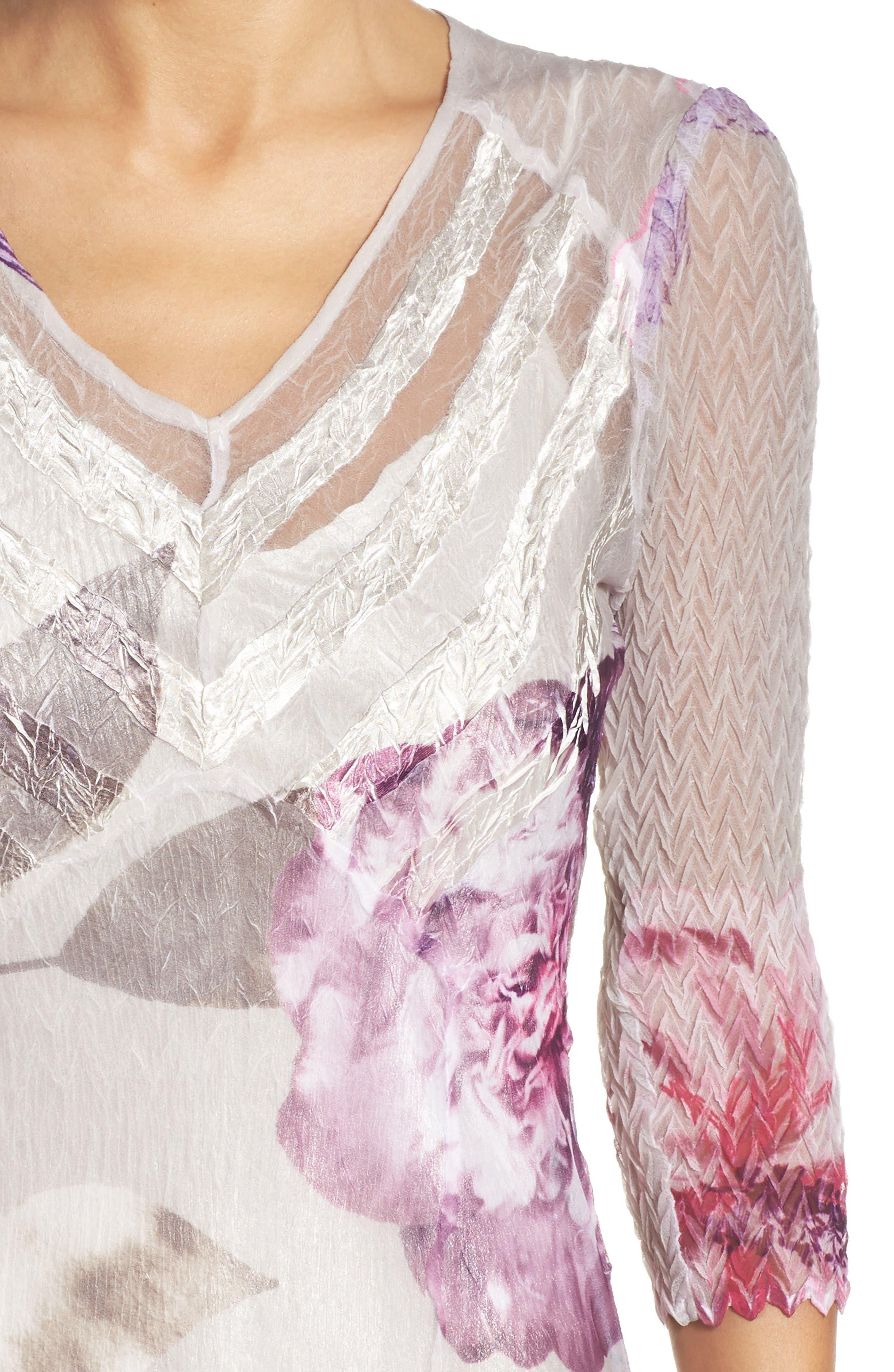 Chiffon A-Line Dress,                             Alternate thumbnail 5, color,                             Ambrosia