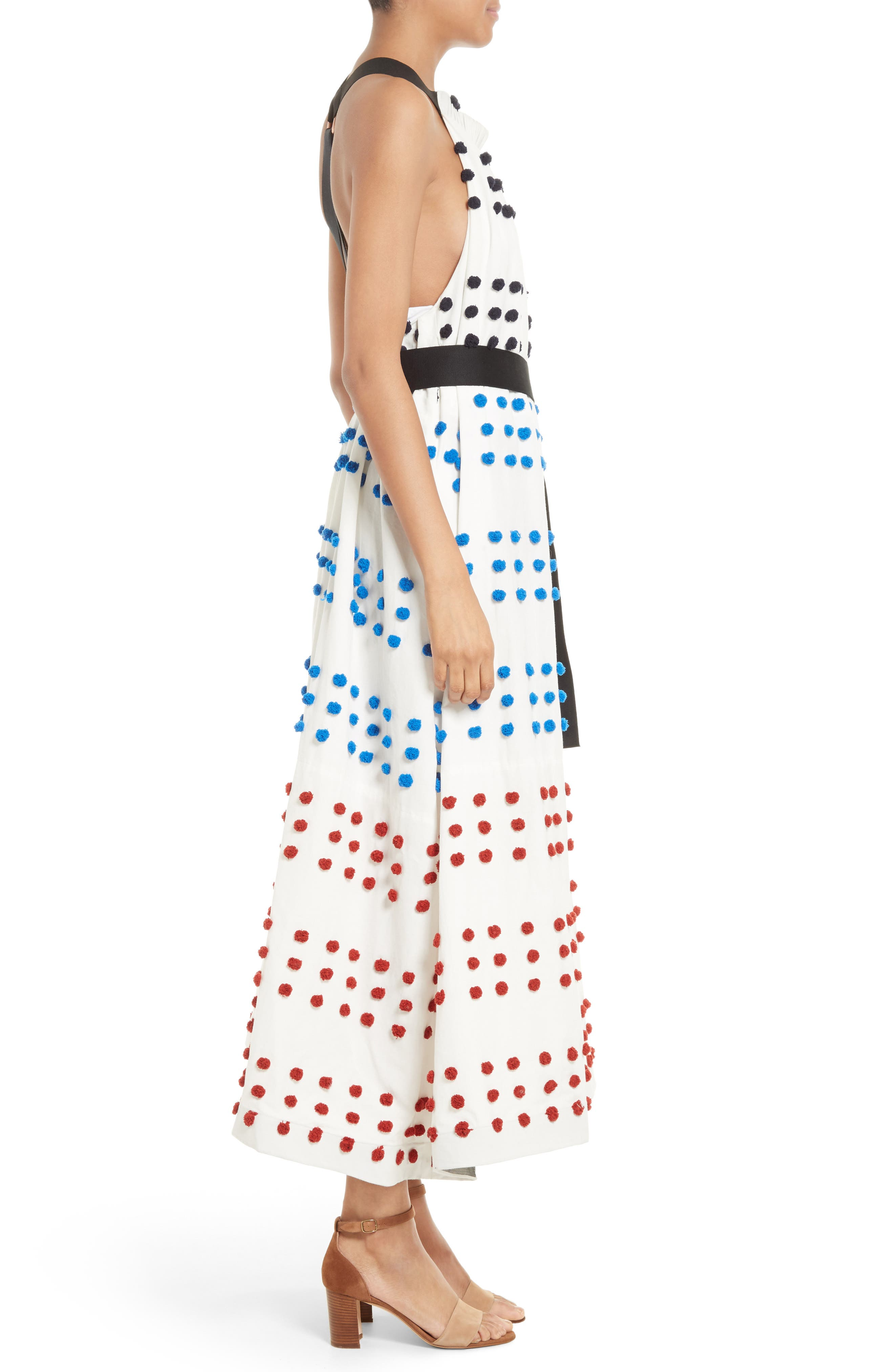 Alternate Image 3  - Tibi Pompom Halter Midi Dress