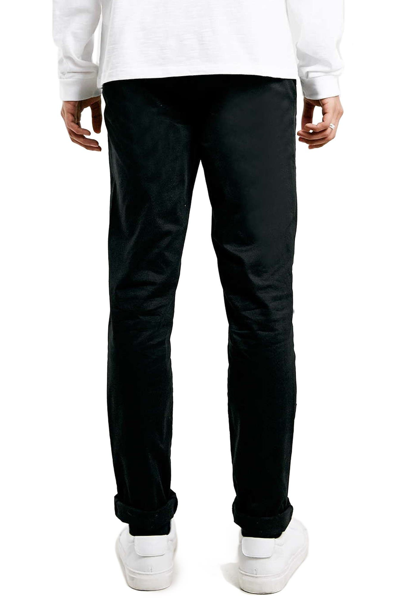Alternate Image 3  - Topman Stretch Skinny Fit Chinos