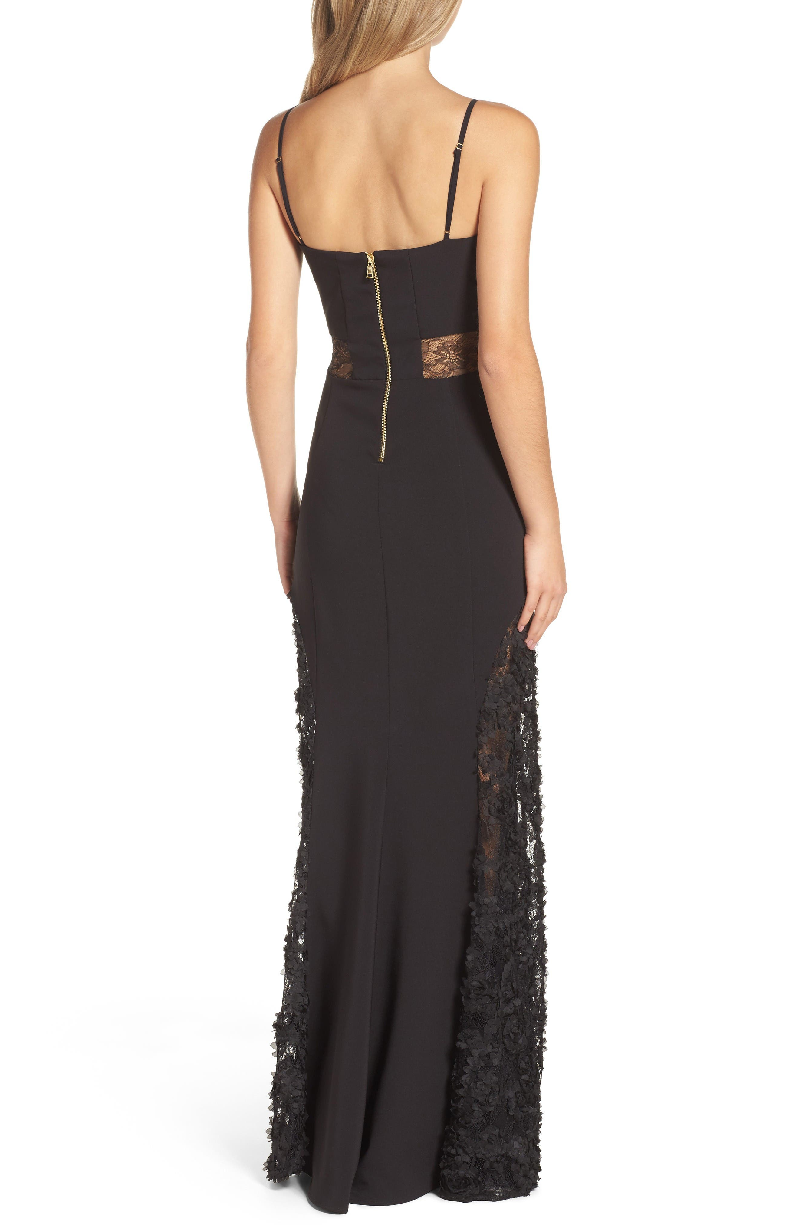 Alternate Image 2  - Maria Bianca Nero Shannon Lace Inset Gown