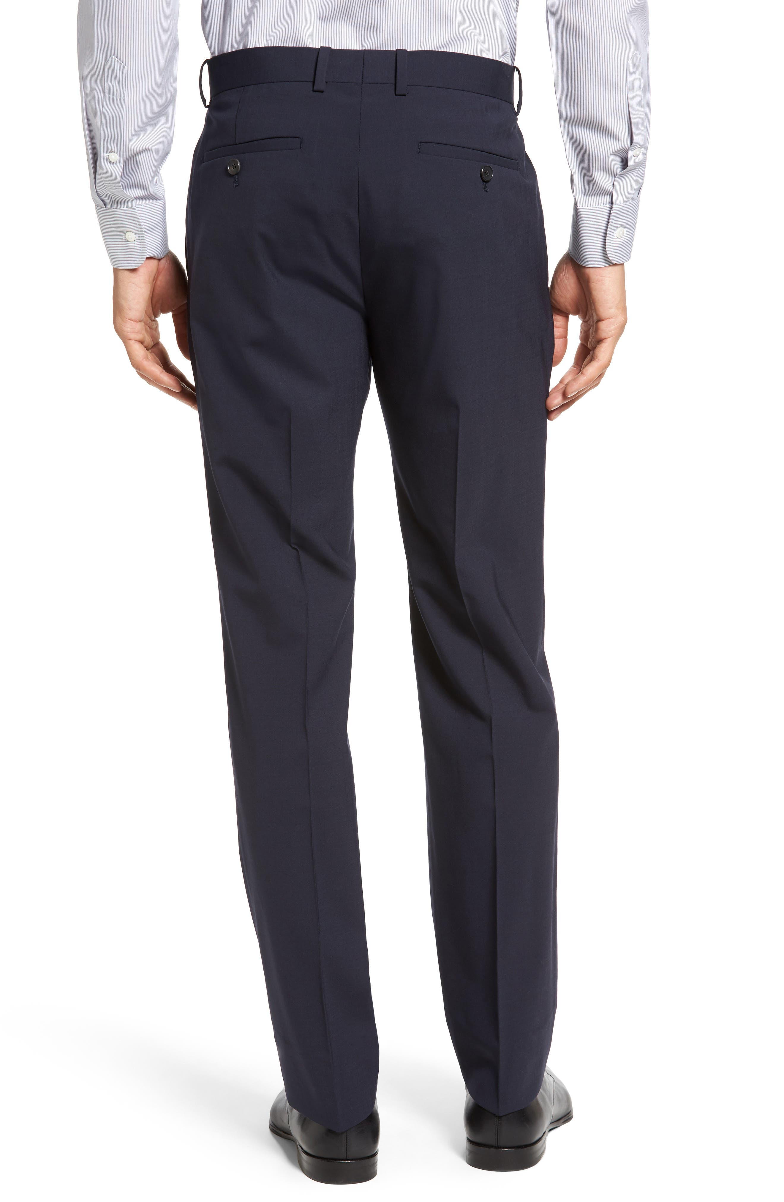 Alternate Image 2  - Theory Marlo New Tailor 2 Flat Front Solid Stretch Wool Trousers