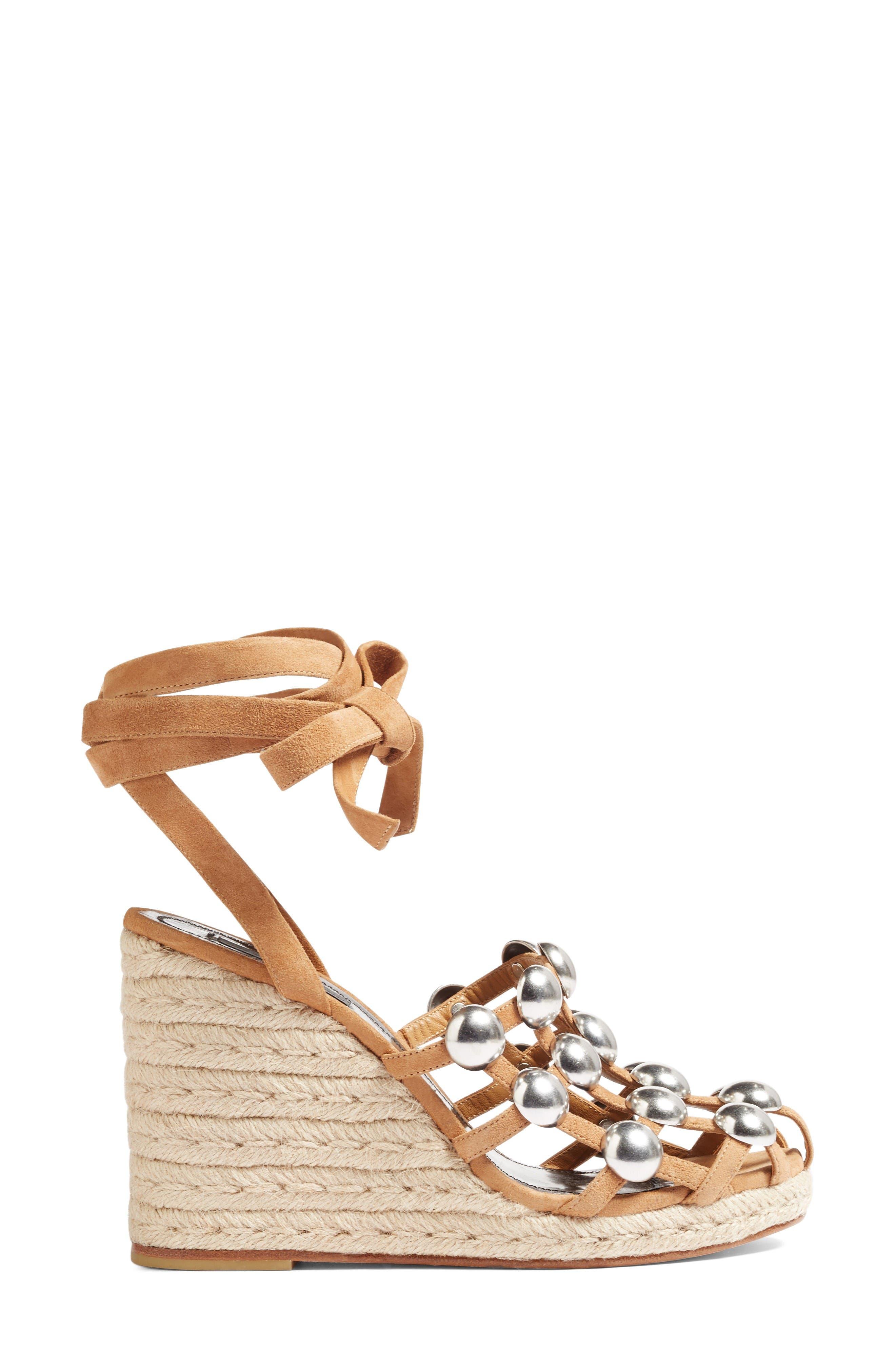 Alternate Image 4  - Alexander Wang Taylor Stud Wedge Sandal (Women)