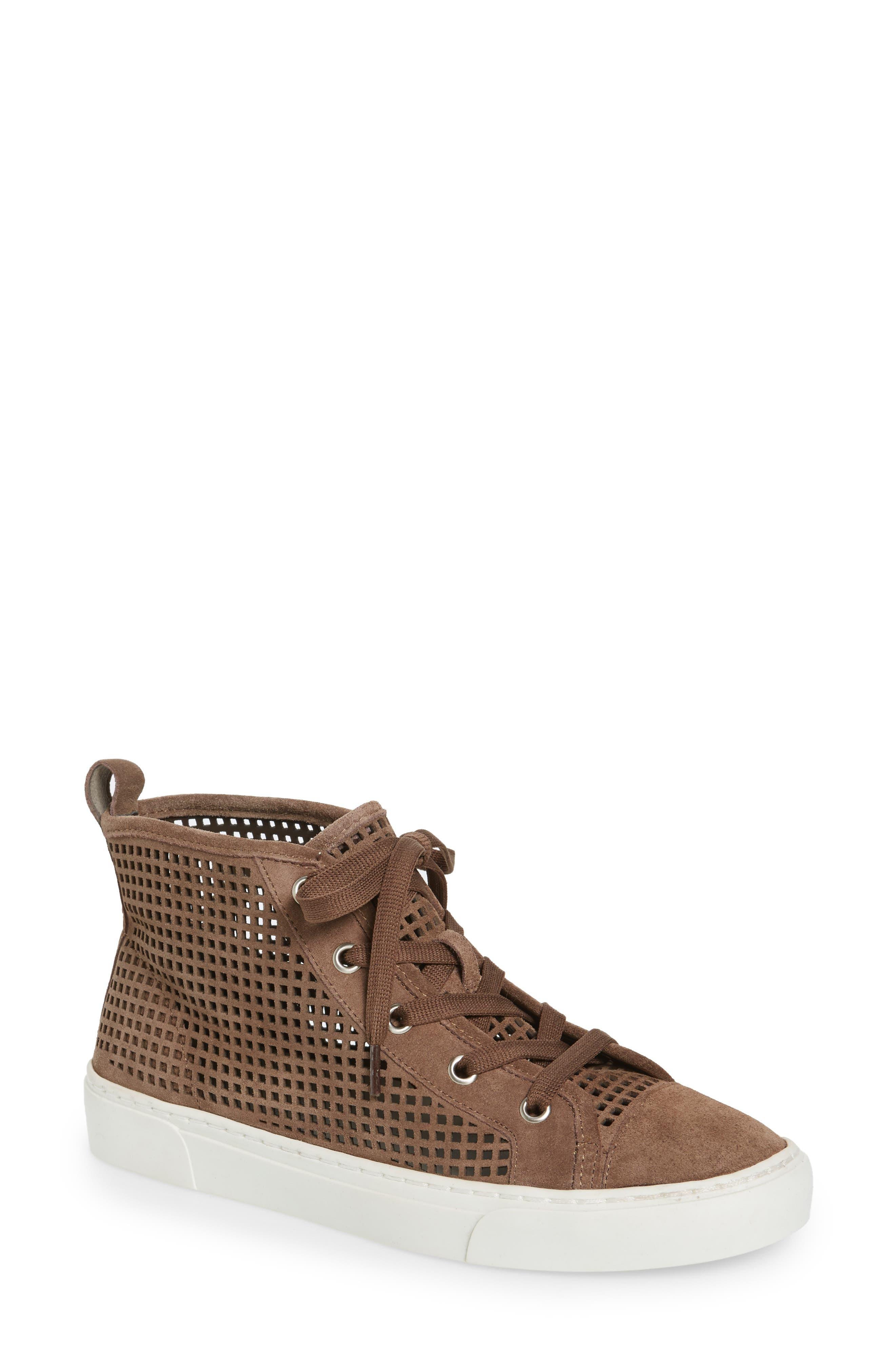 1.STATE Dulcia Perforated High-Top Sneaker (Women)