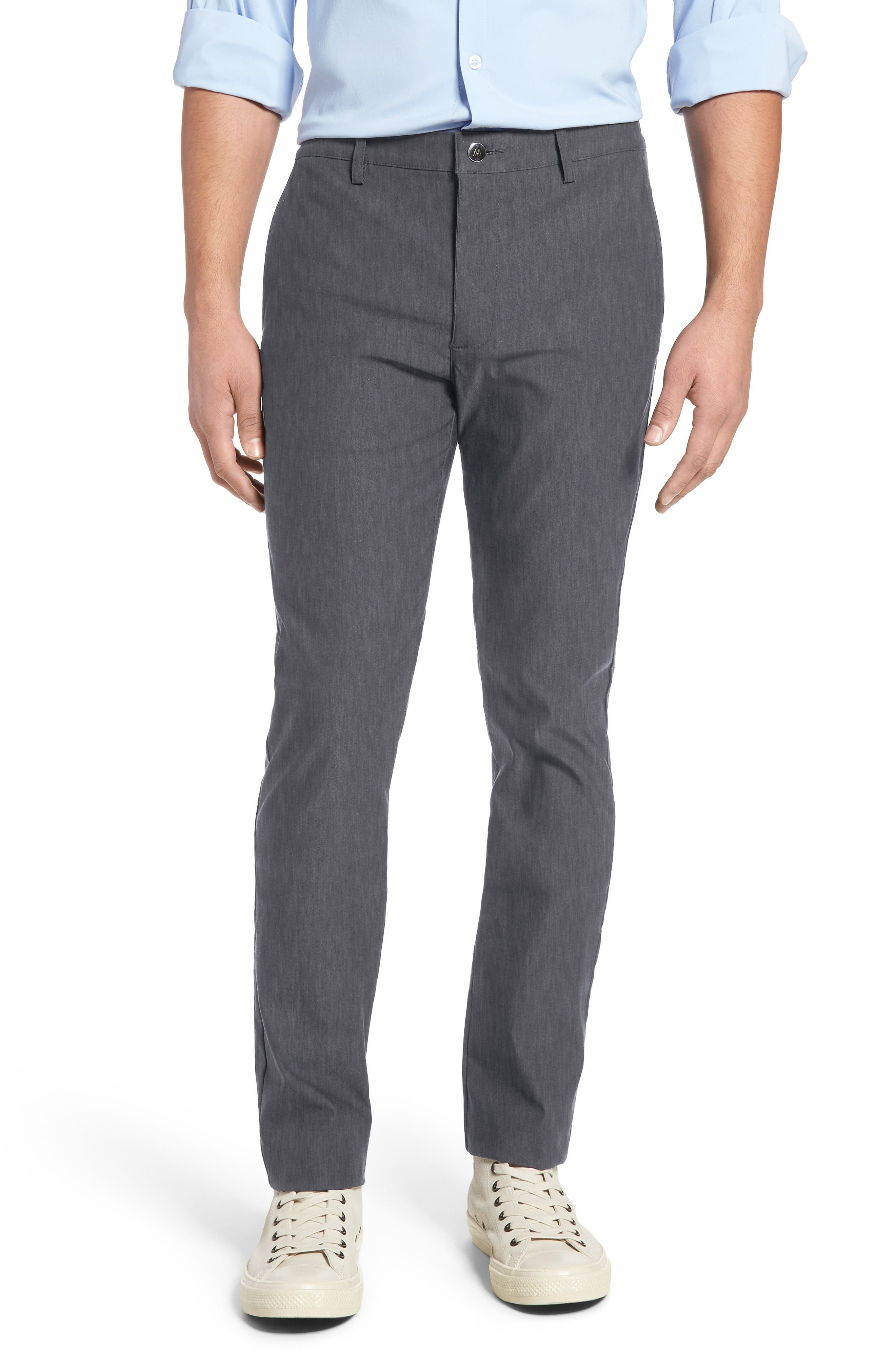 Vice President Trim Fit Performance Chinos,                         Main,                         color, Grey