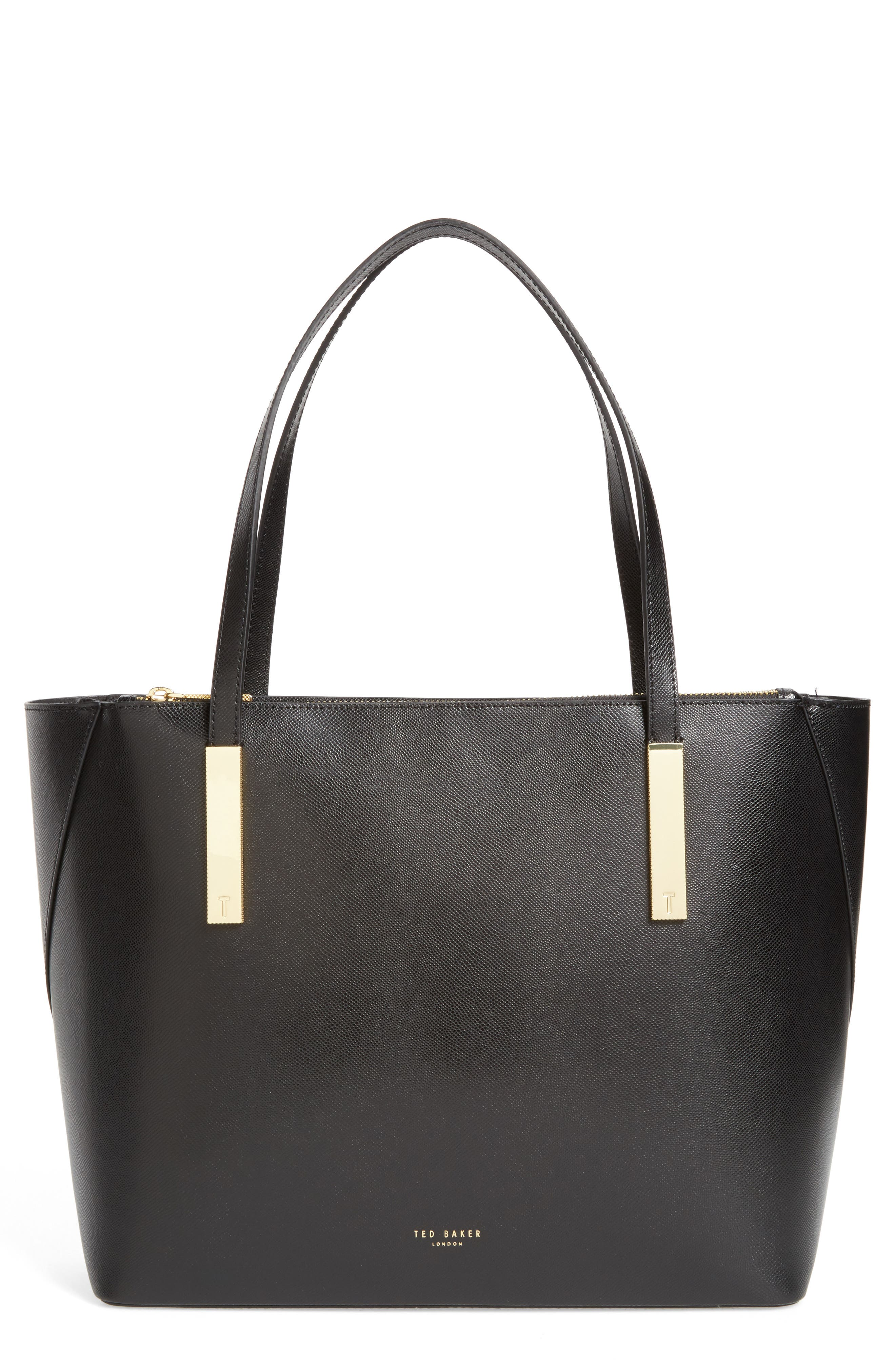 Alternate Image 1 Selected - Ted Baker London Mini Leather Shopper