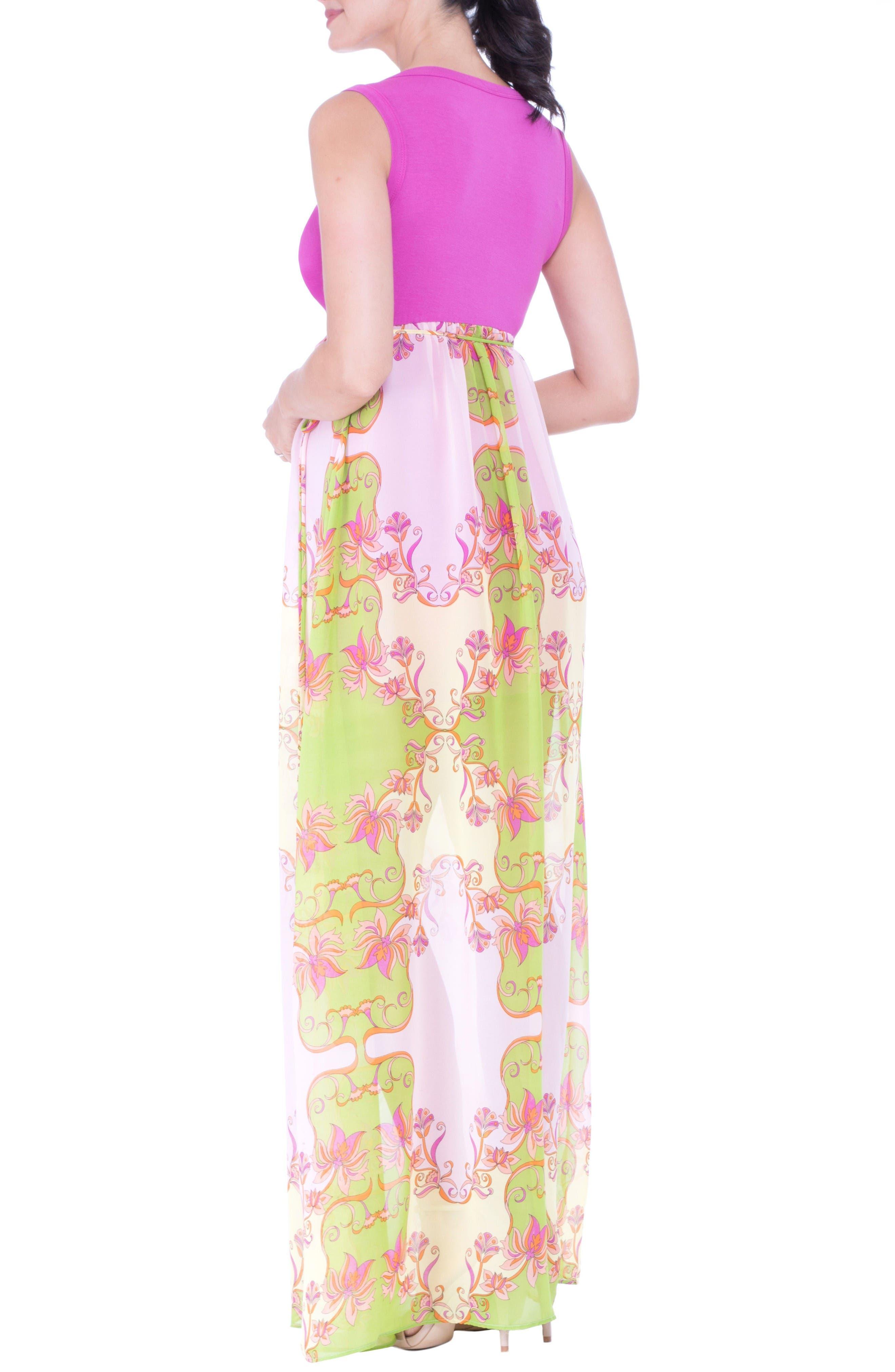 Alternate Image 4  - Olian Maternity Maxi Dress