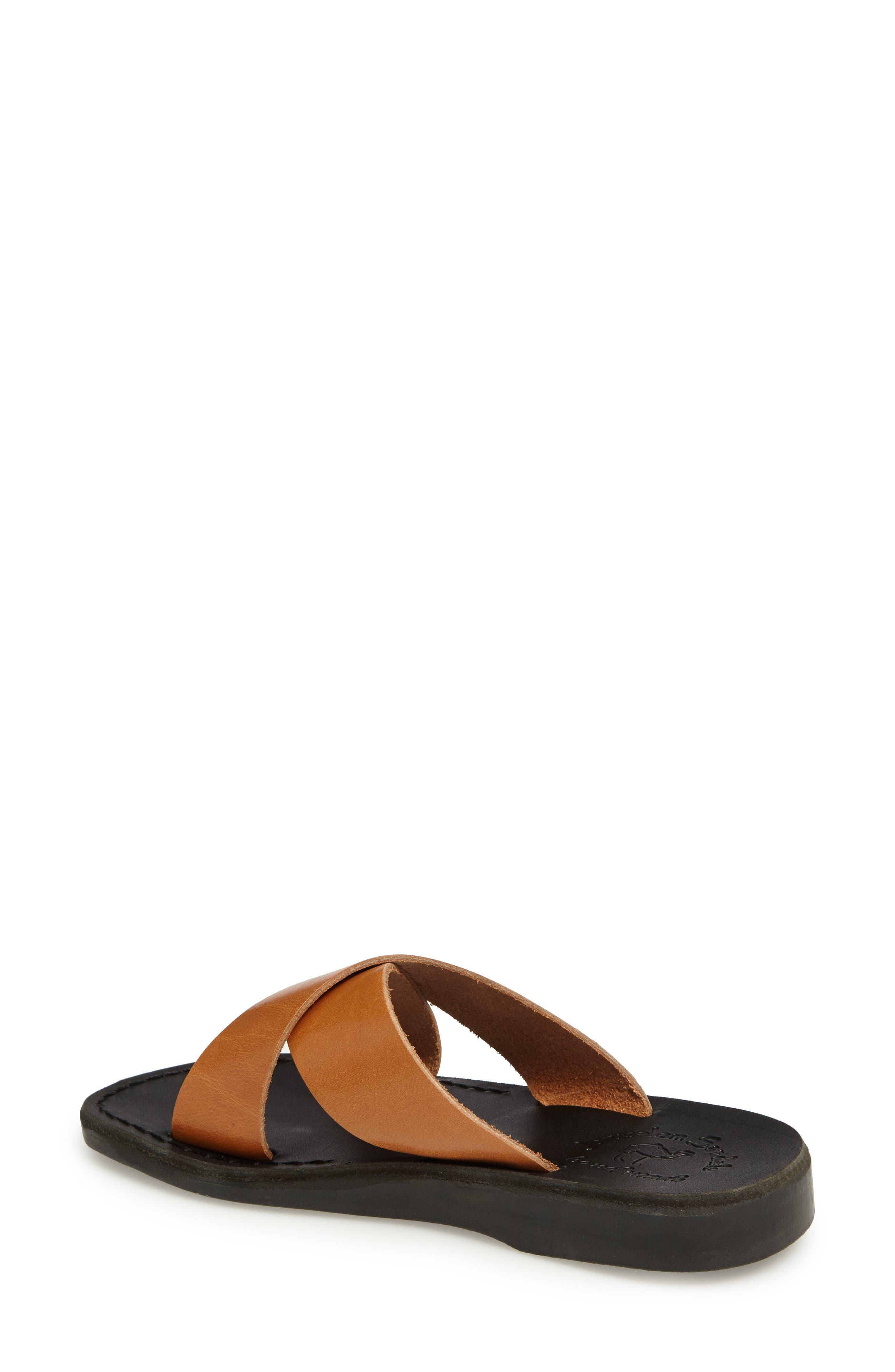 Elan Crisscross Sandal,                             Alternate thumbnail 2, color,                             Brown/ Tan Leather
