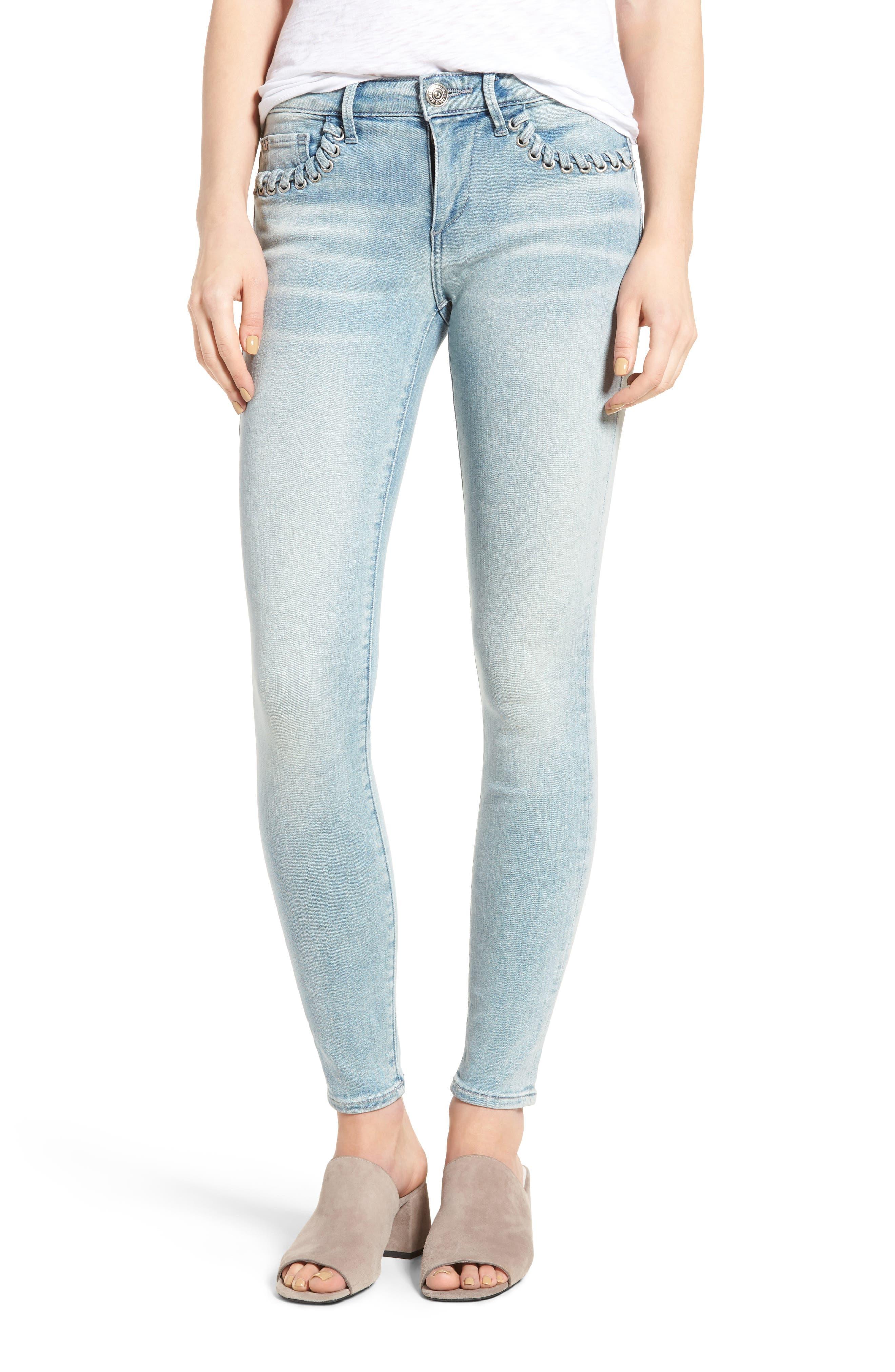Alternate Image 1 Selected - True Religion Brand Jeans Halle Super Skinny Jeans (Cloud Nine)