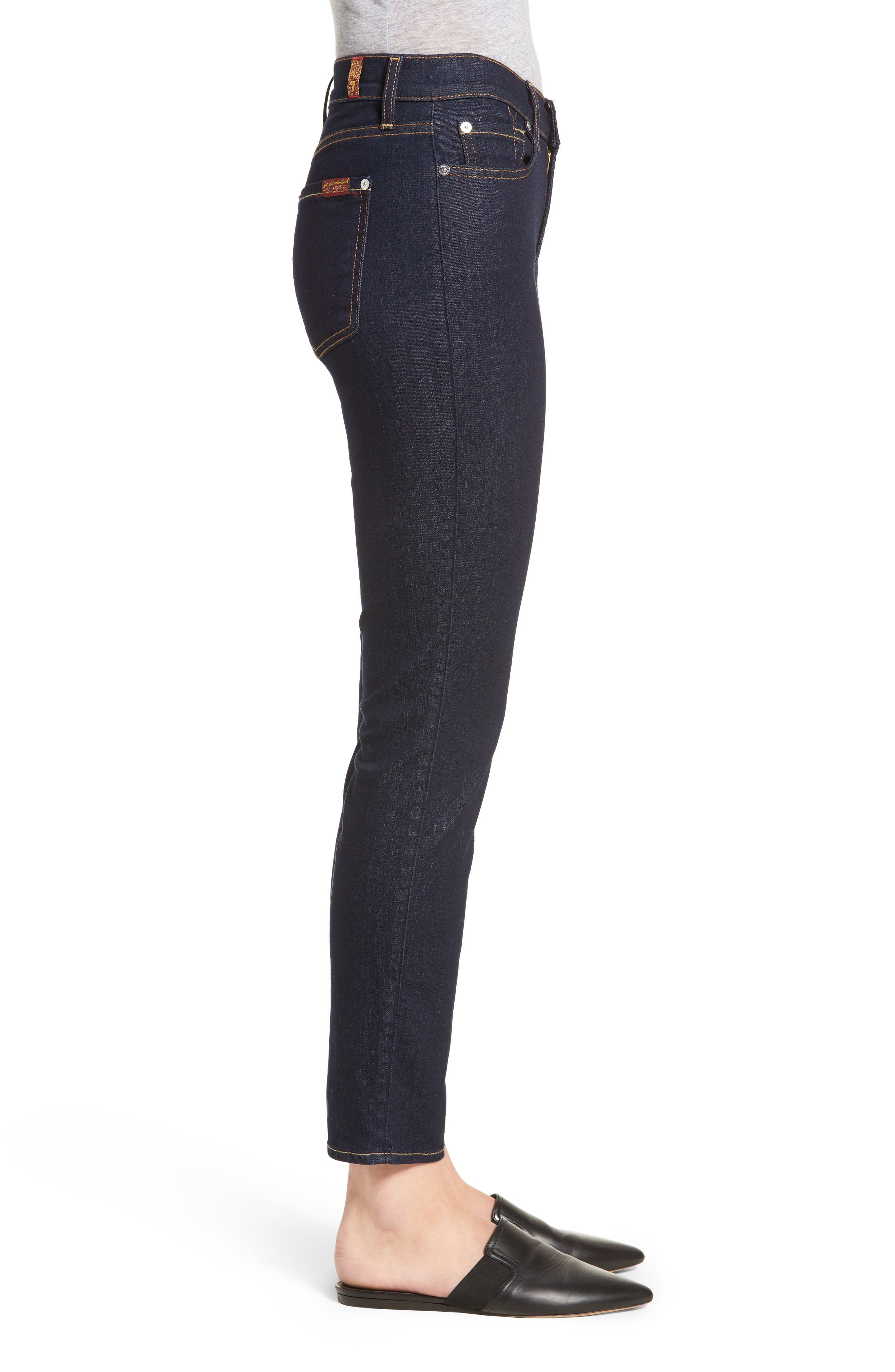b(air) Roxanne Ankle Skinny Jeans,                             Alternate thumbnail 3, color,                             B(Air) Authentic Rinse
