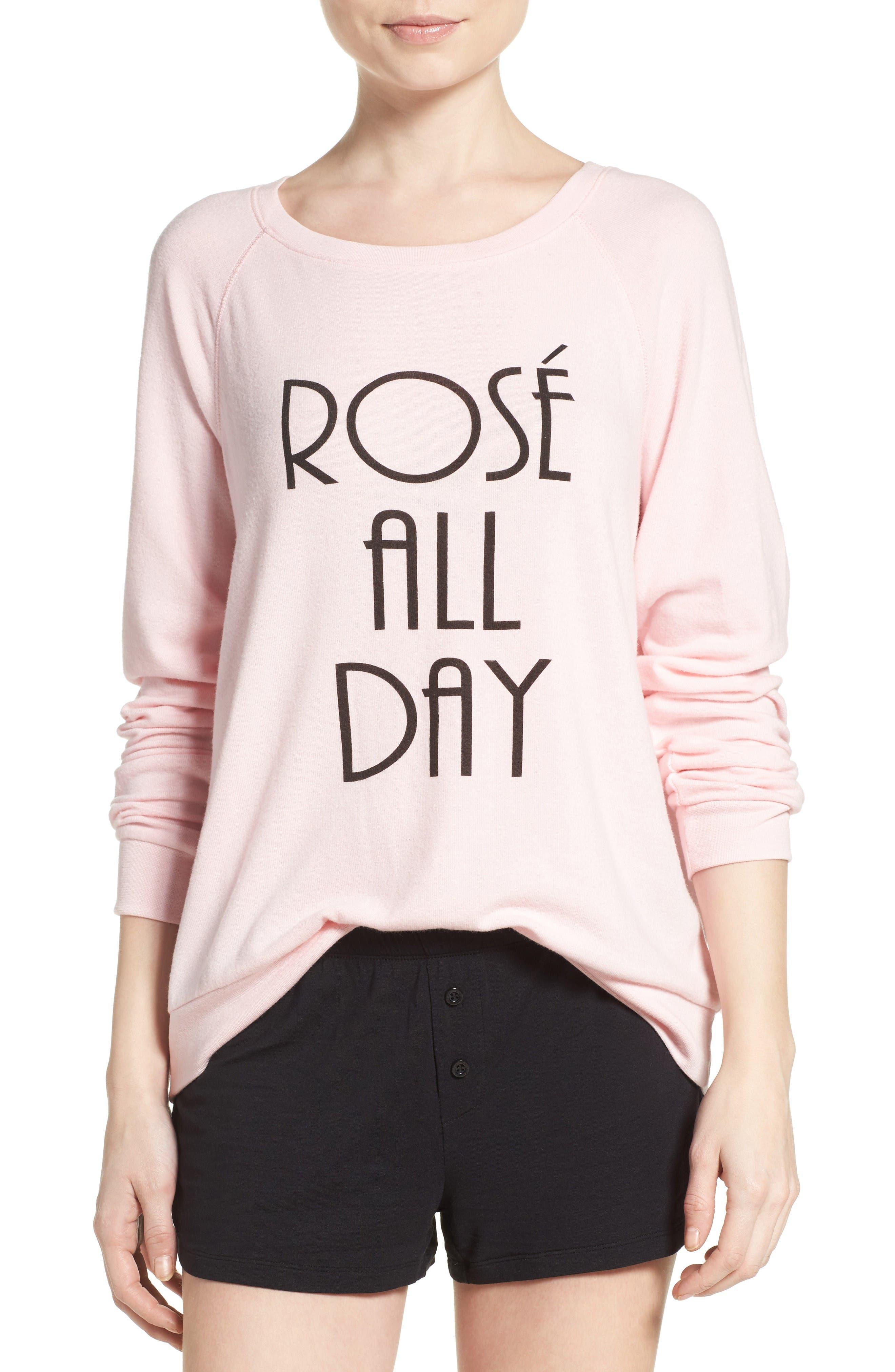 Main Image - PJ Salvage Rosé All Day Sweatshirt
