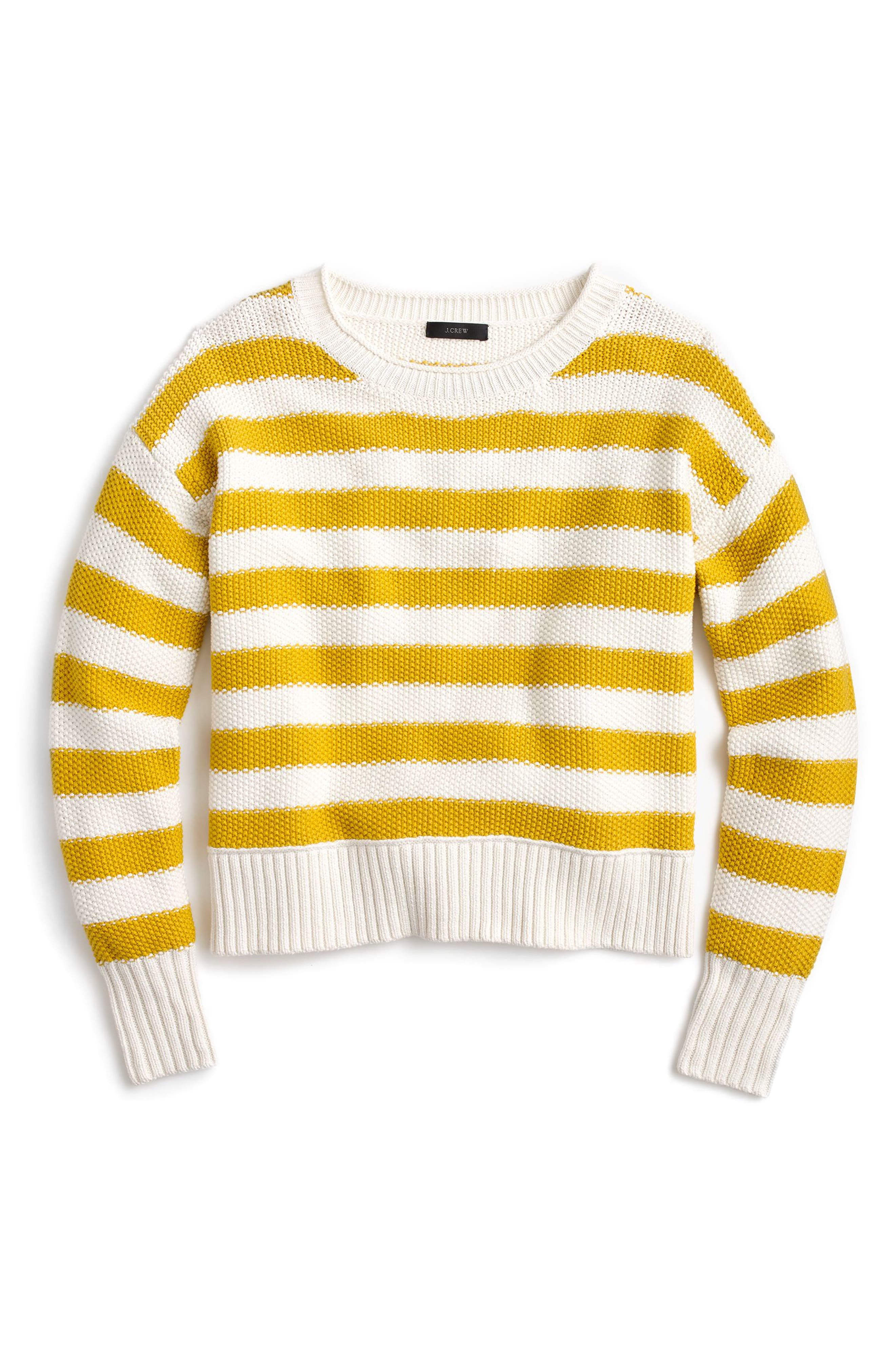 Main Image - J.Crew Textured Stripe Sweater