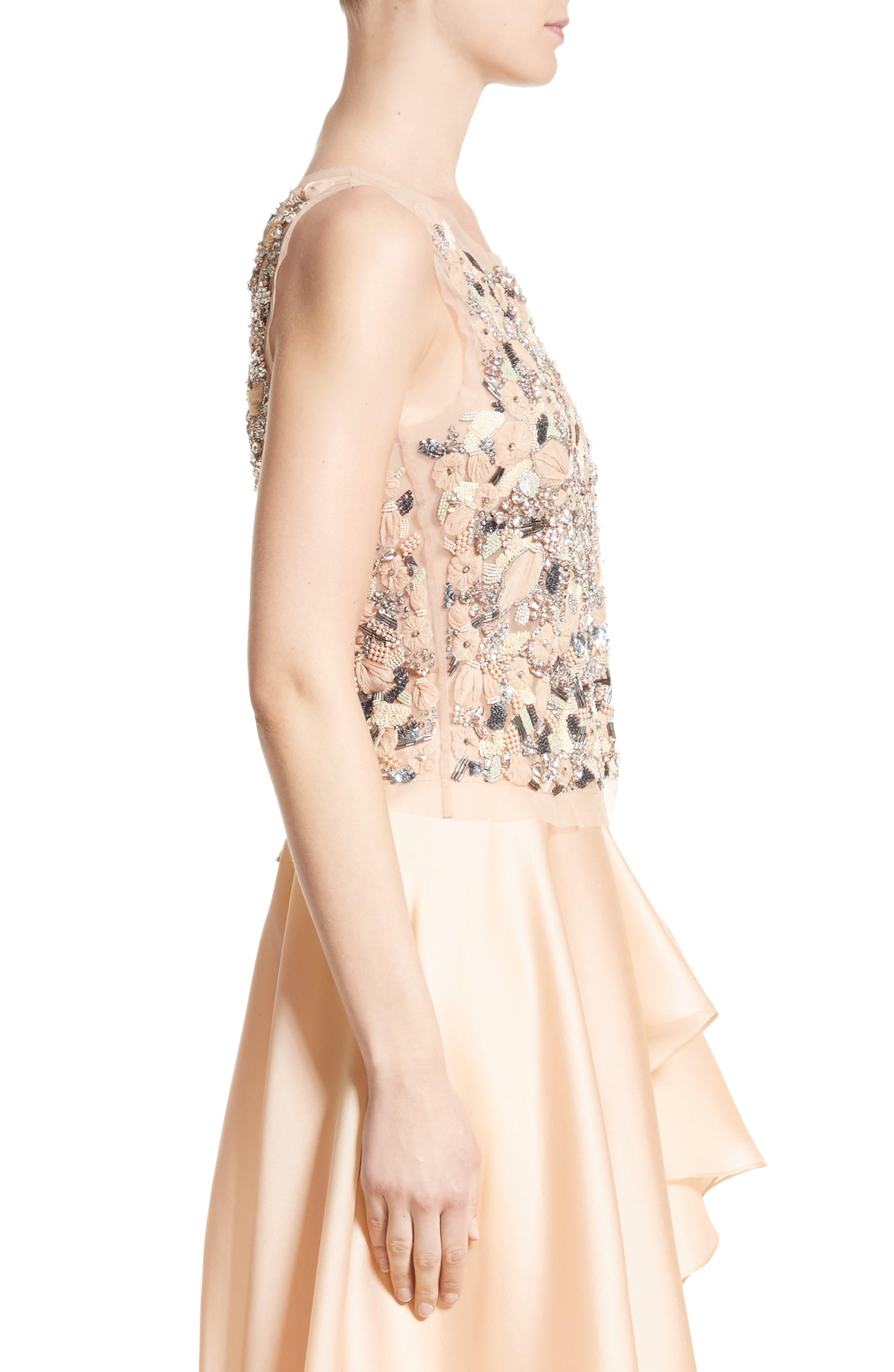 Alternate Image 5  - Badgley Mischka Couture Beaded Top