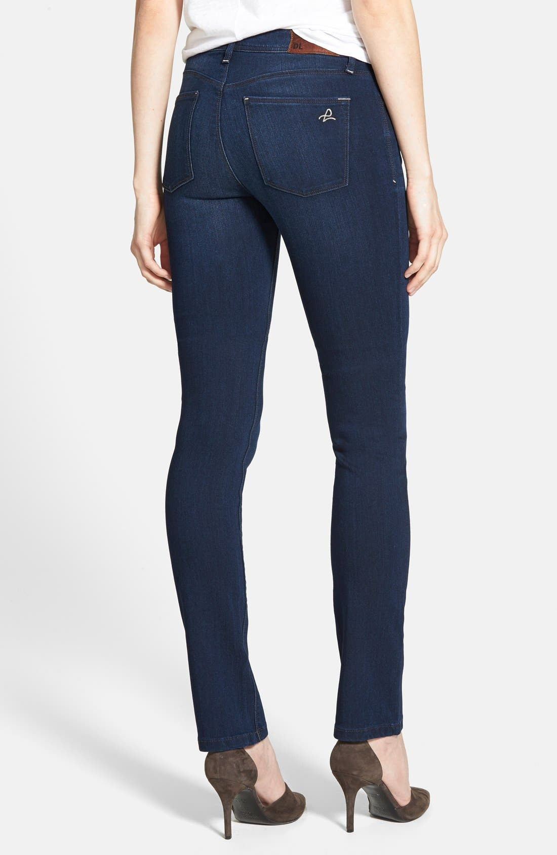'Grace' Straight Jeans,                             Alternate thumbnail 2, color,                             Moscow