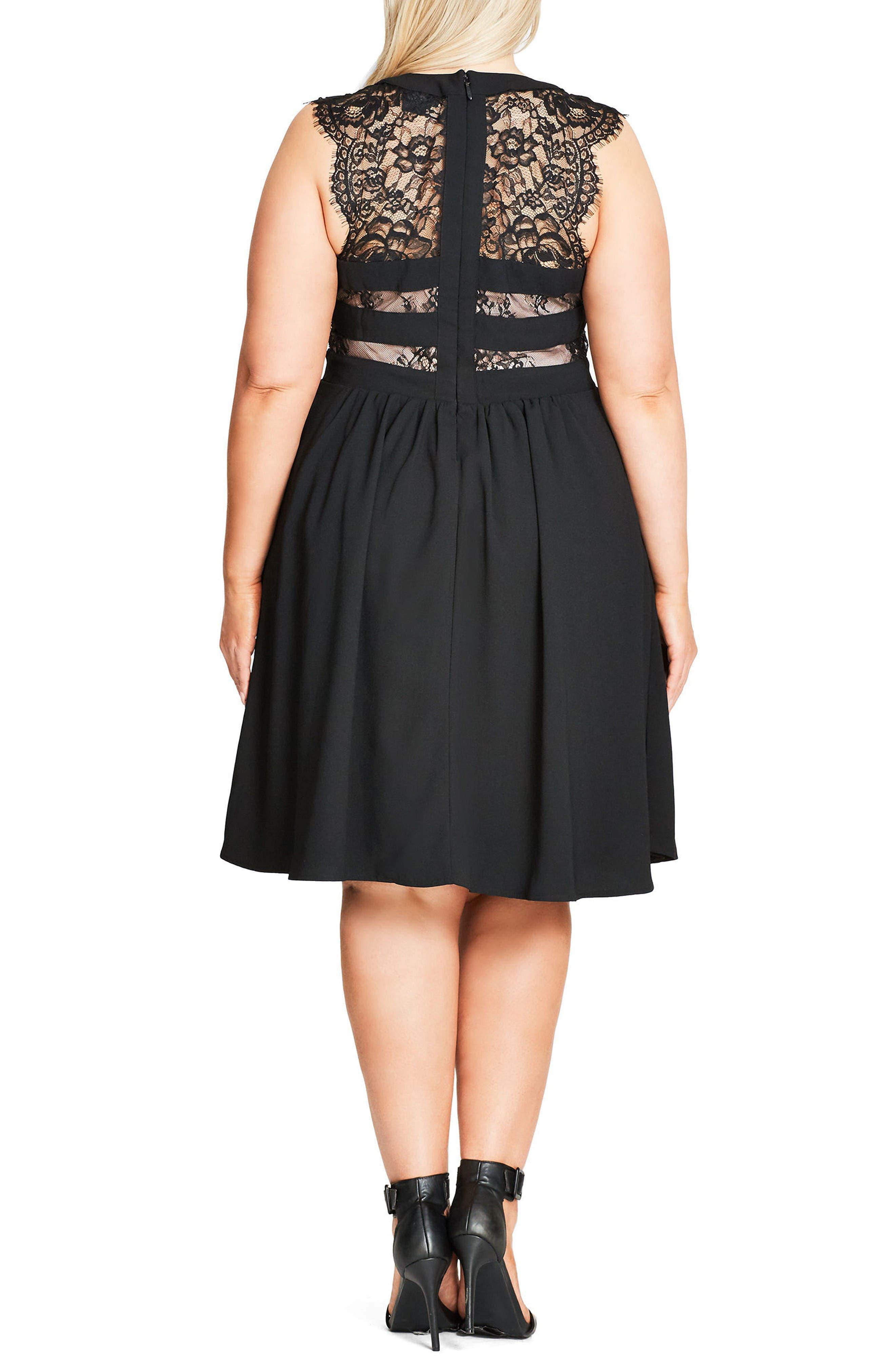 Cage Dress,                             Alternate thumbnail 2, color,                             Black