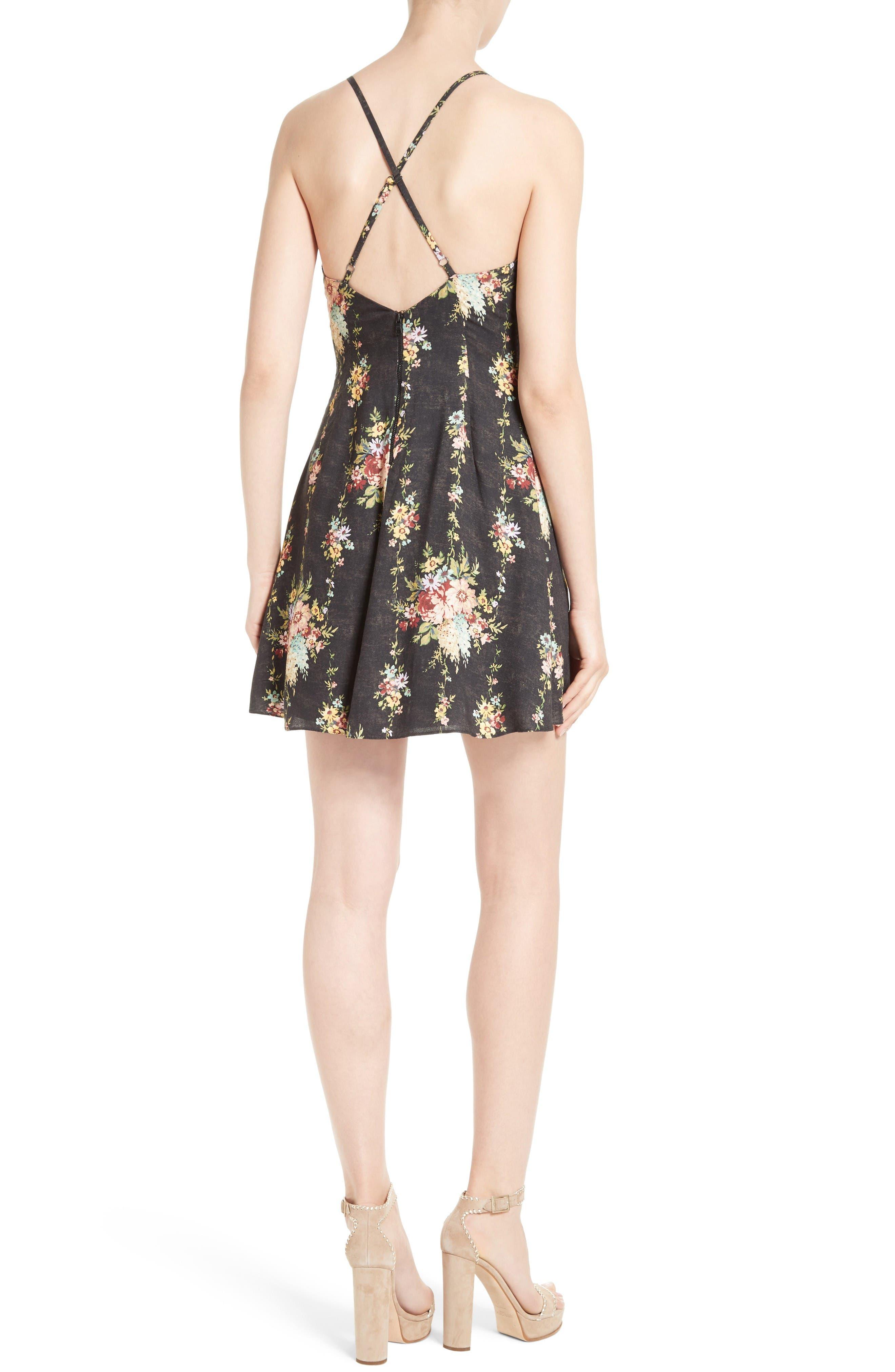 Alternate Image 2  - Alice + Olivia Alves Floral Fit & Flare Dress