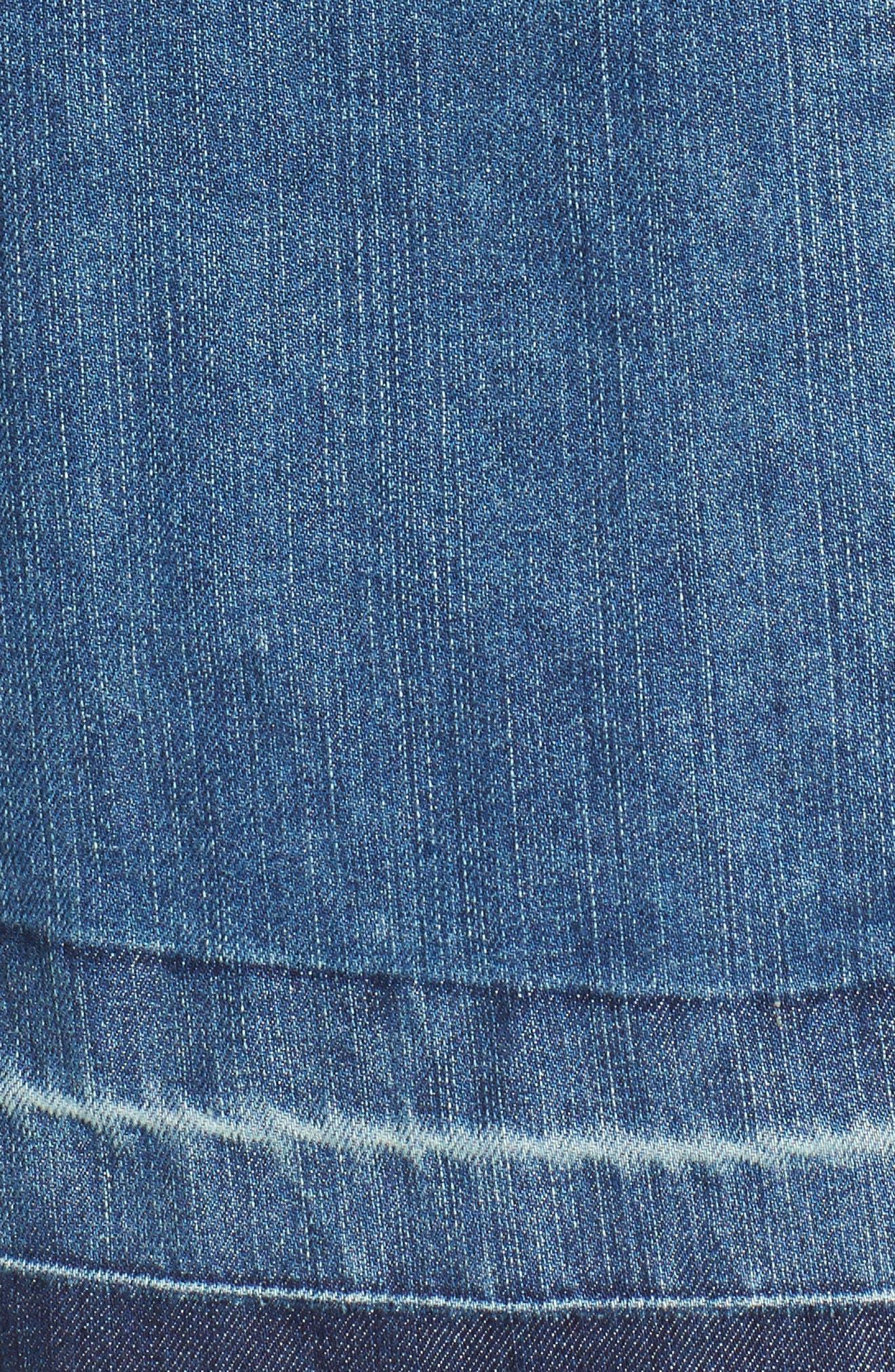 Release Hem Denim Jacket,                             Alternate thumbnail 5, color,                             Blue