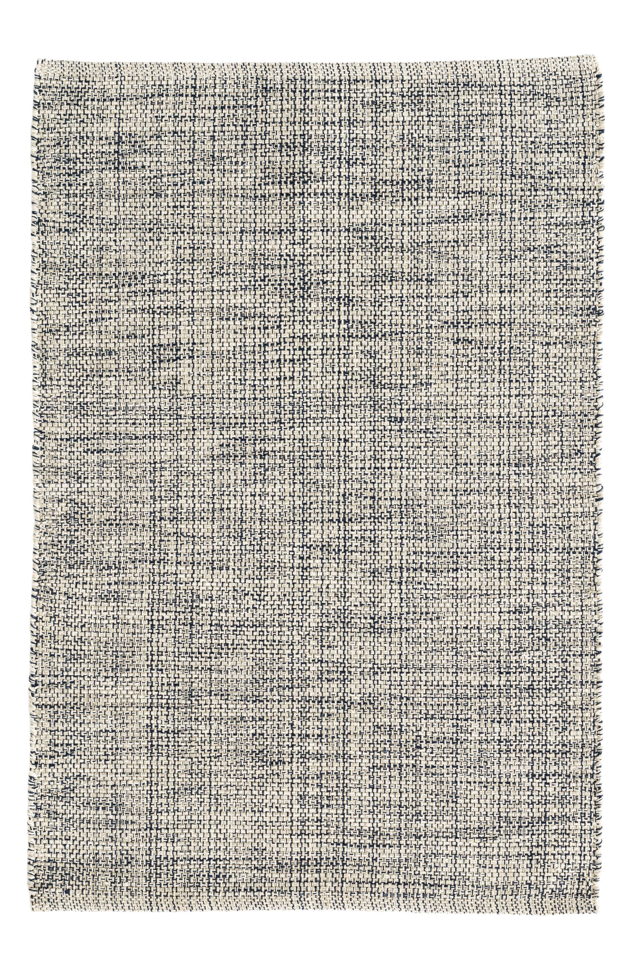 Marled Woven Rug,                         Main,                         color, Blue