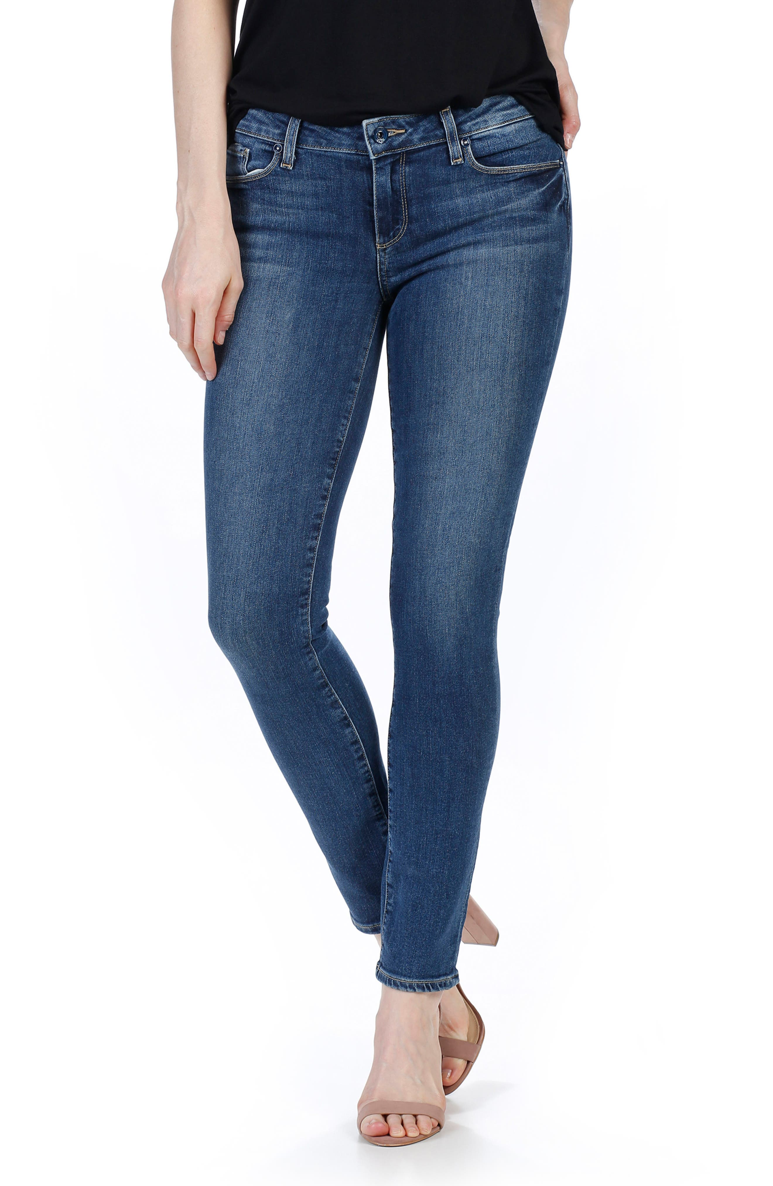 Alternate Image 1 Selected - PAIGE Legacy - Skyline Ankle Peg Skinny Jeans (Lane)
