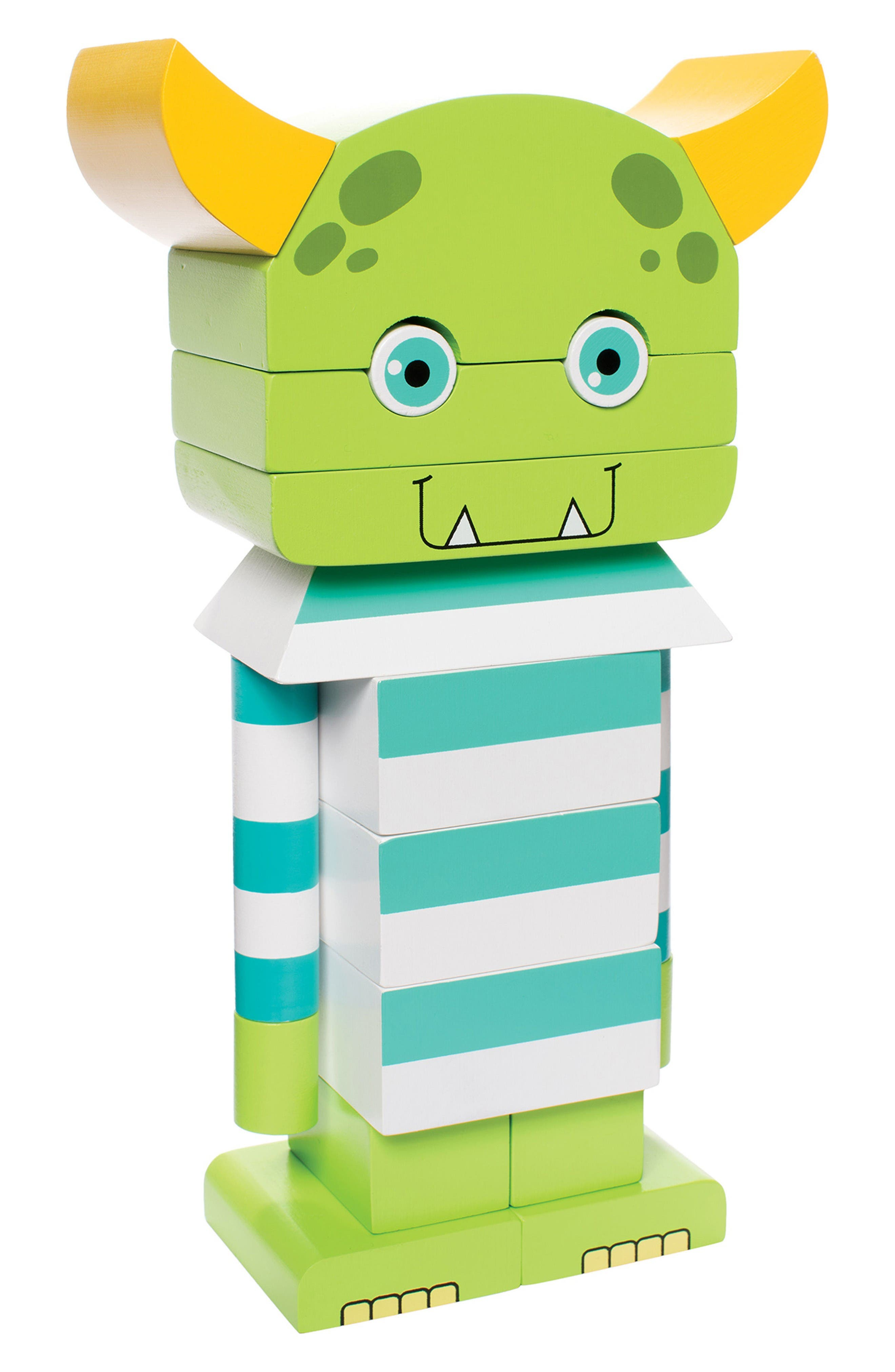 Monty the Monster Magnetic Blocks,                             Main thumbnail 1, color,                             Green