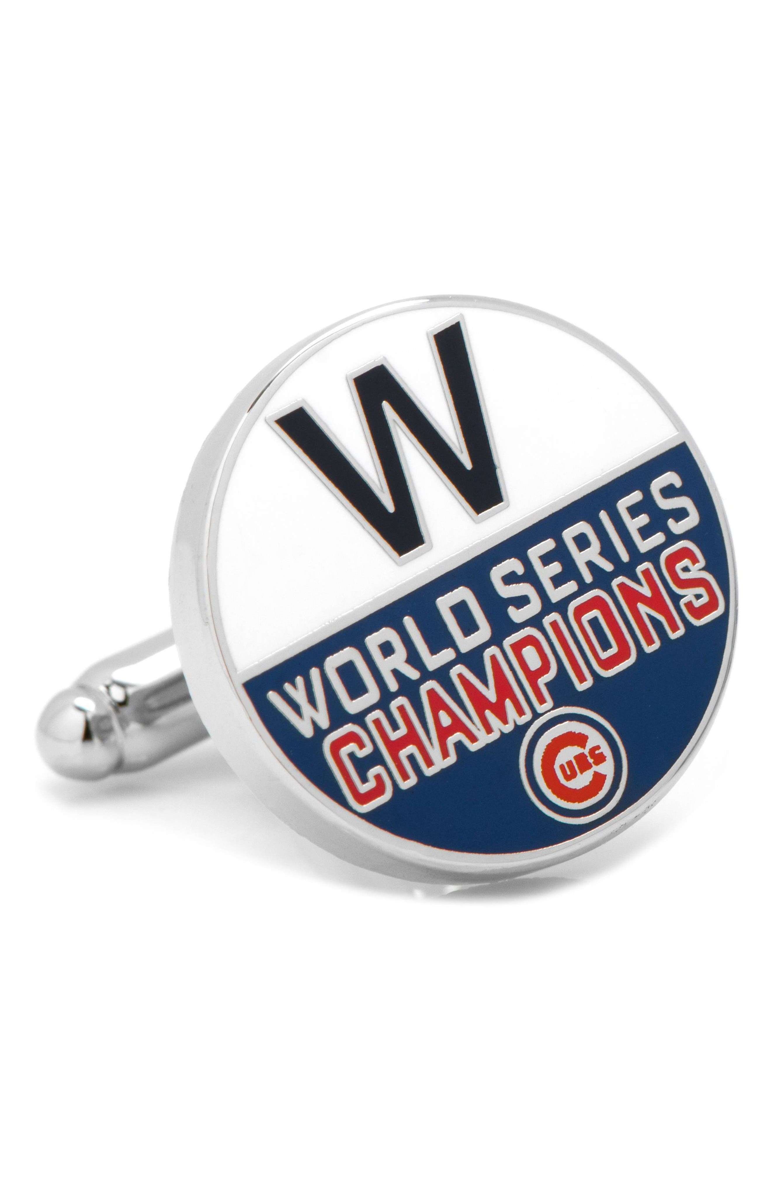 Cubs World Series Cuff Links,                             Alternate thumbnail 2, color,                             Silver Multi