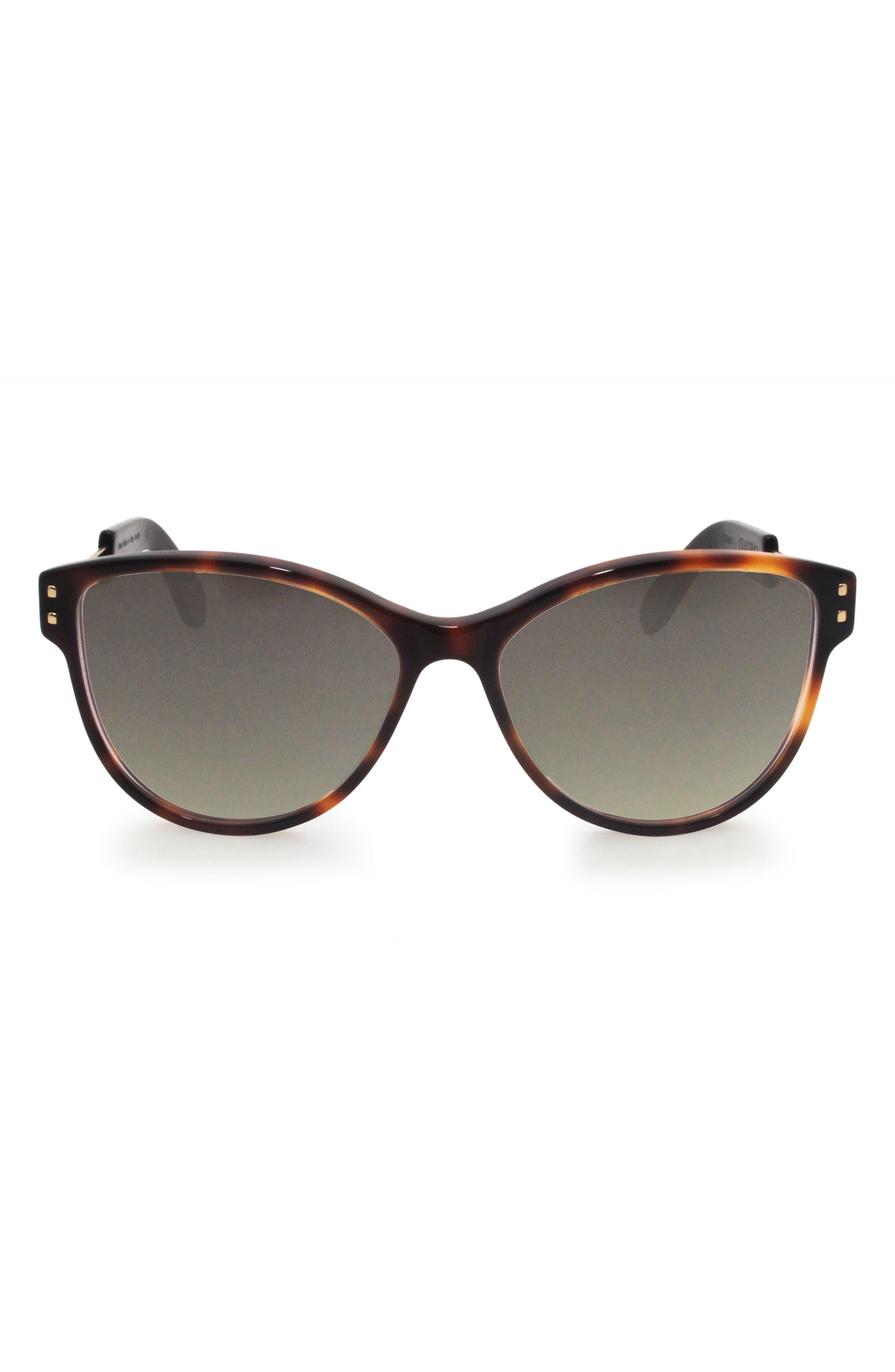 Main Image - GLASSING Francy 56mm Gradient Cat Eye Sunglasses