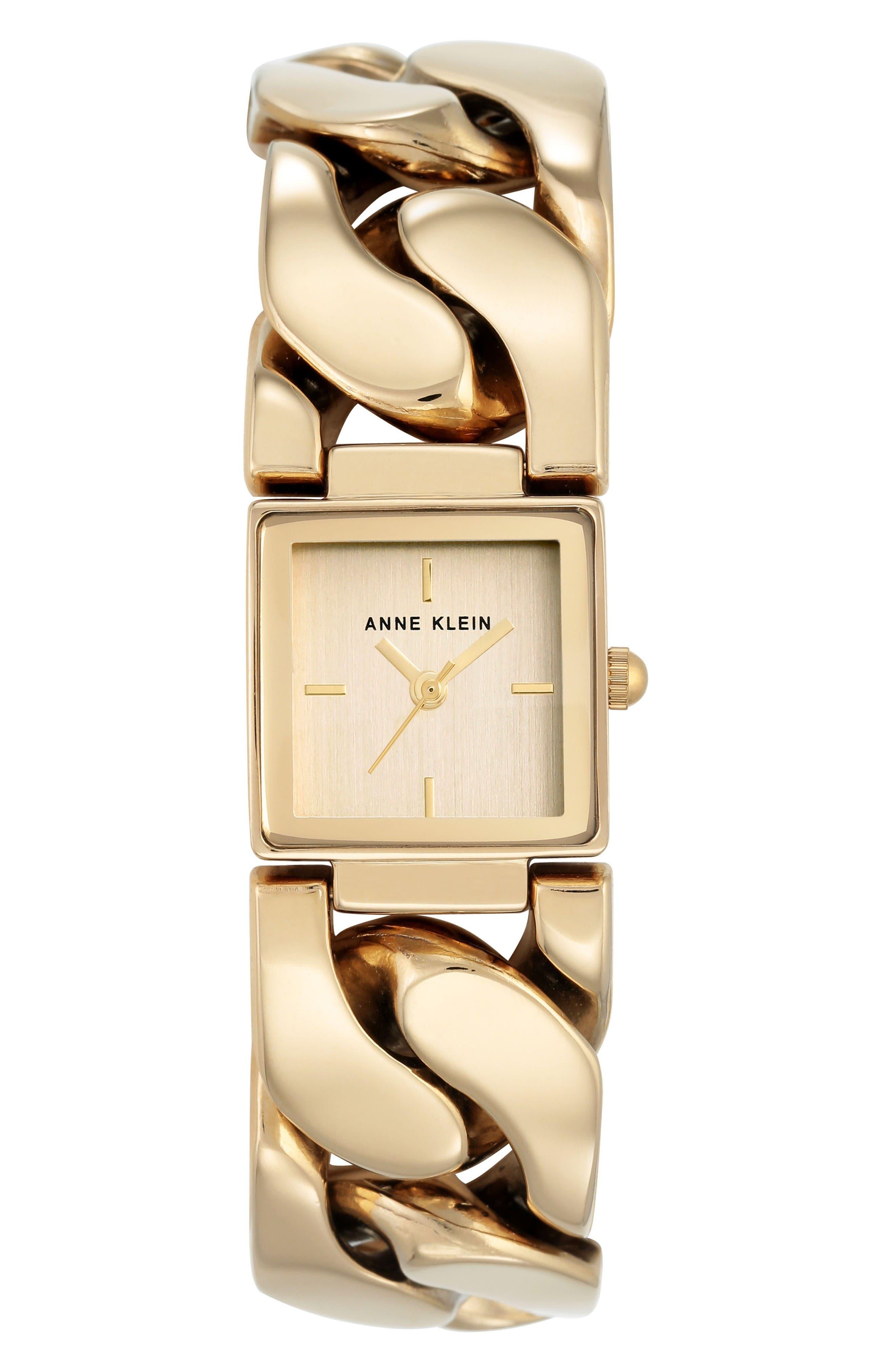Bracelet Watch, 20.5mm,                         Main,                         color, Gold