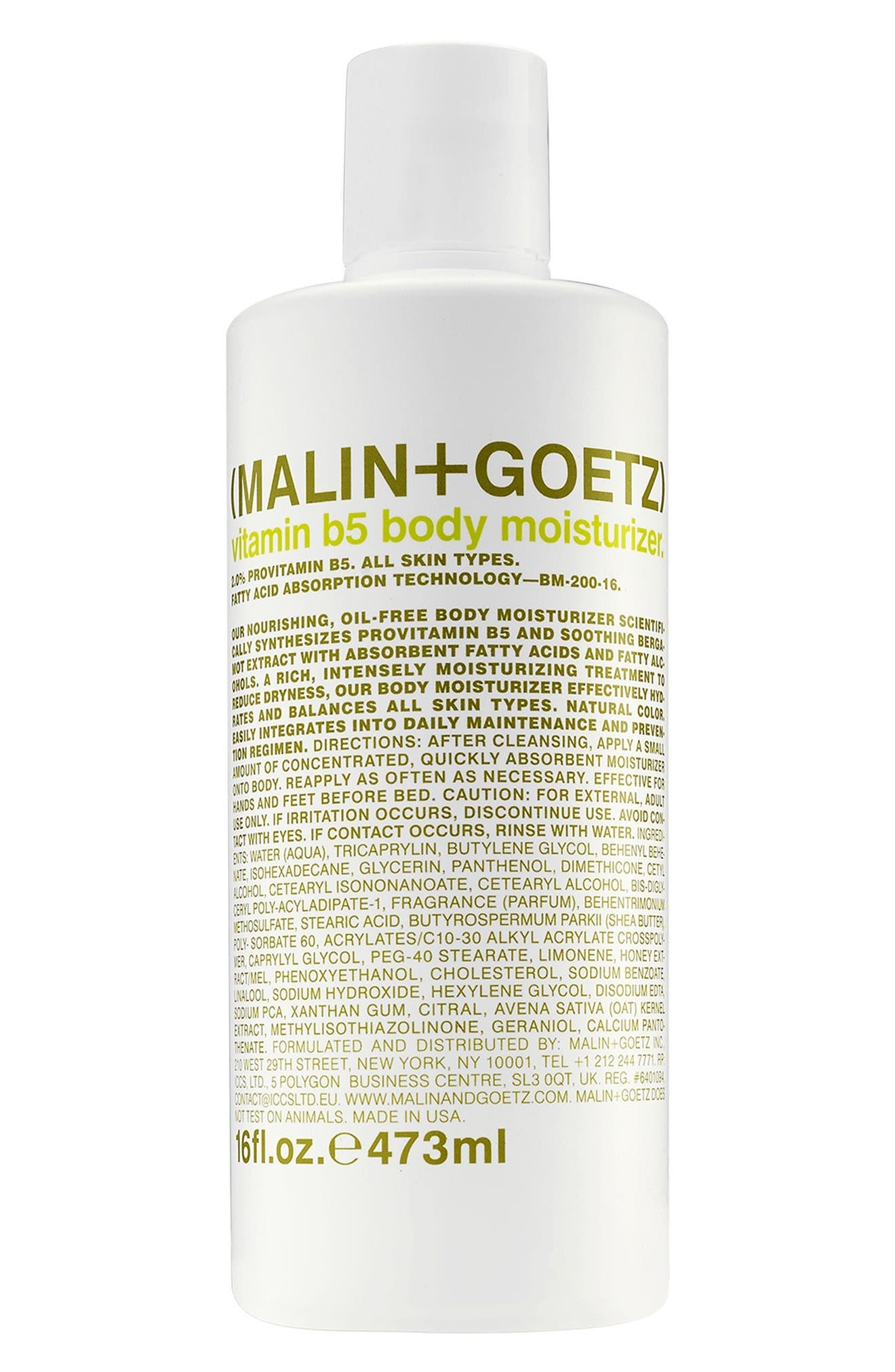Main Image - SPACE.NK.apothecary Malin + Goetz Vitamin B5 Body Moisturizer