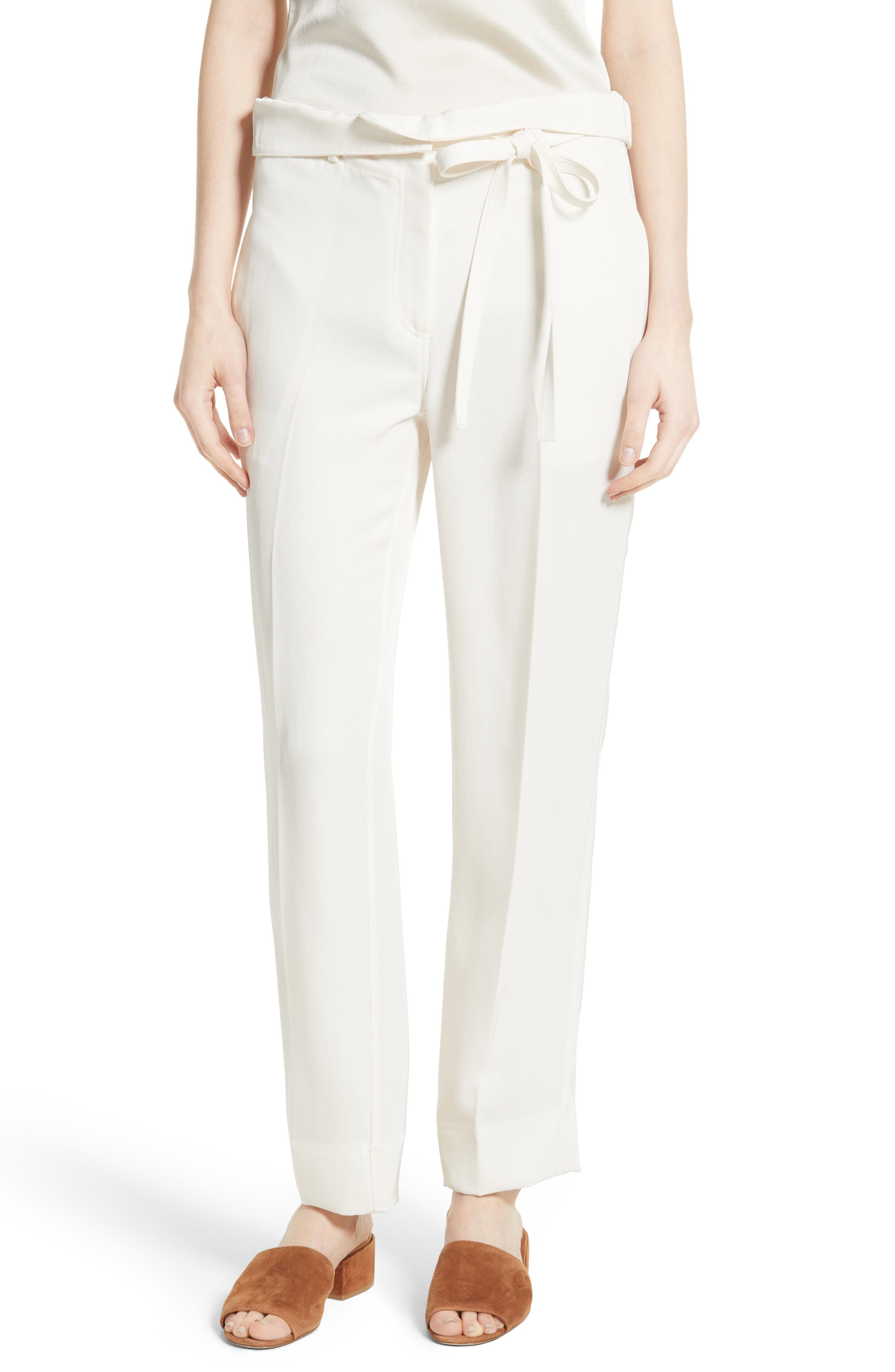 Main Image - Theory Gunilla Clean Twill 2 Tie Waist Pants