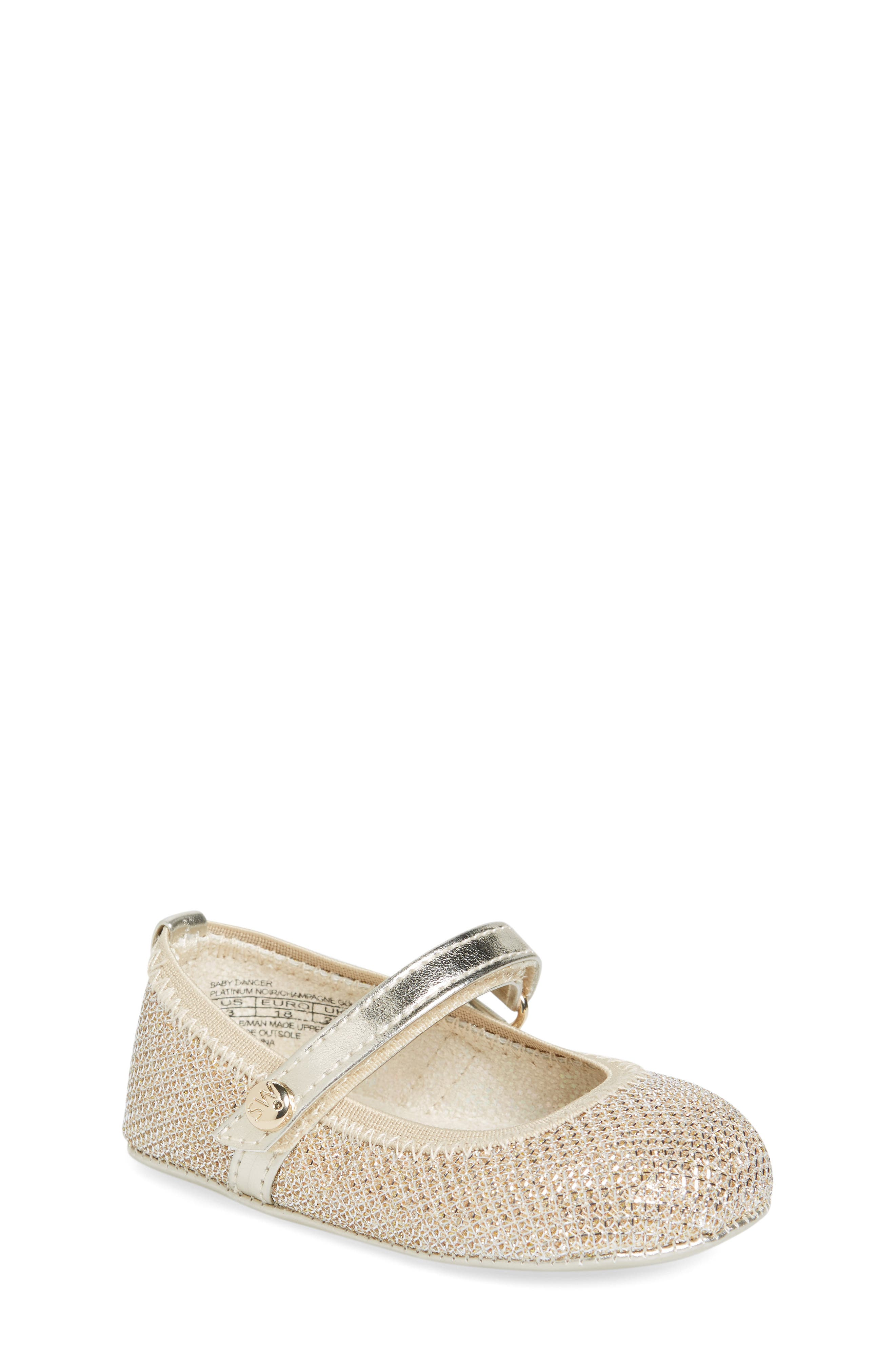 Stuart Weitzman Baby Dancer Crib Shoe (Baby)