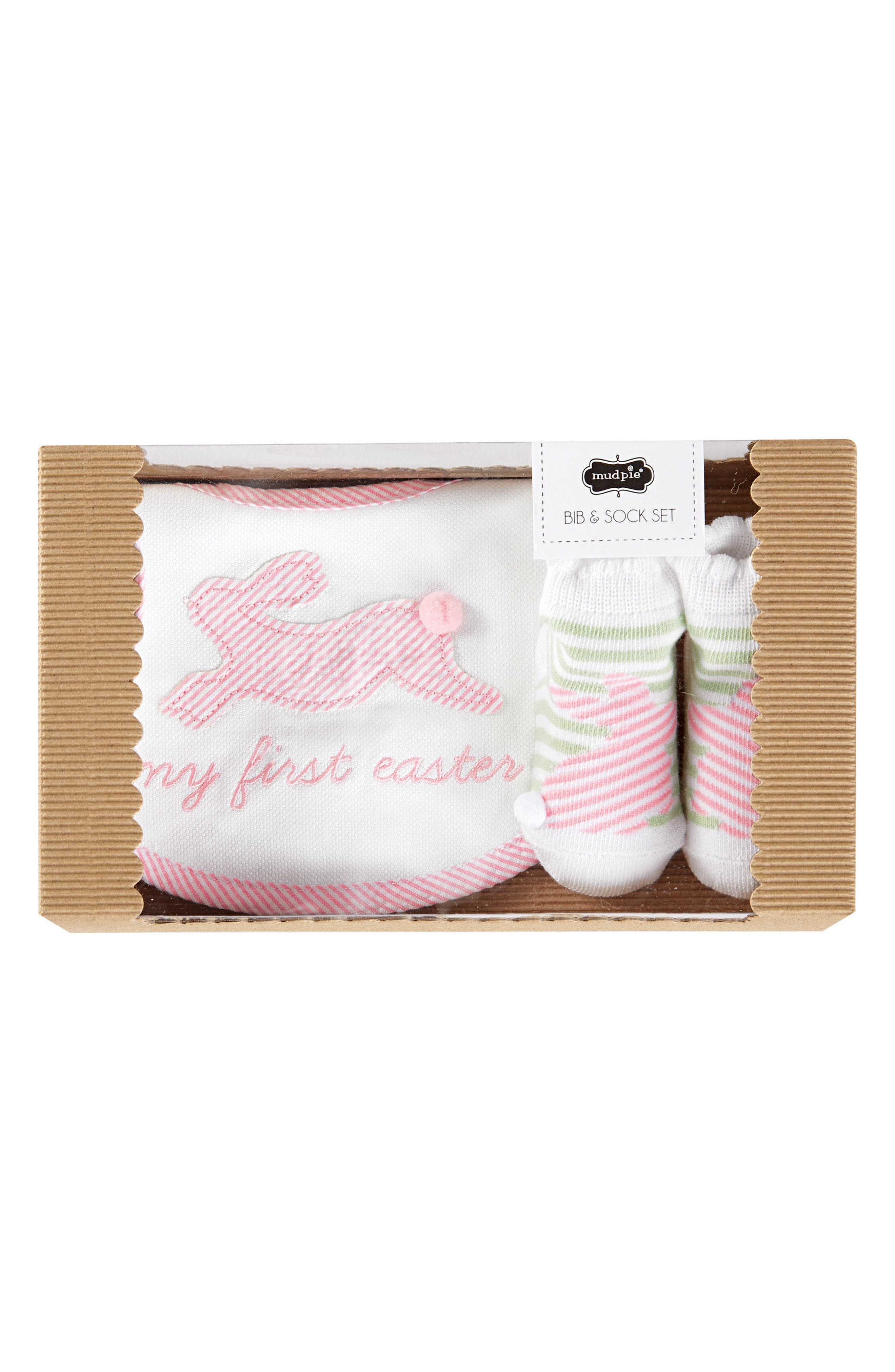 Mud Pie My First Easter Bib & Socks Set (Baby)