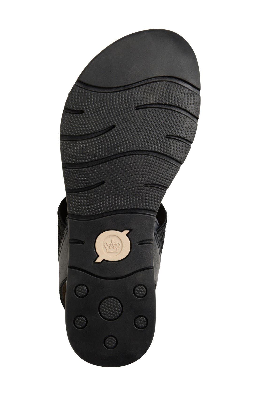 Parsons Sandal,                             Alternate thumbnail 4, color,                             Black Full Grain Leather