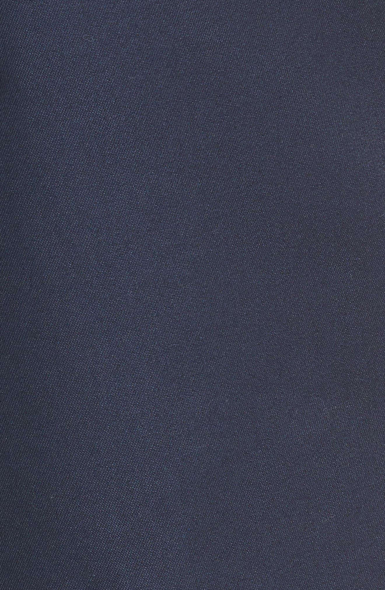 Flat Front Supima<sup>®</sup> Cotton Shorts,                             Alternate thumbnail 5, color,                             Navy Eclipse