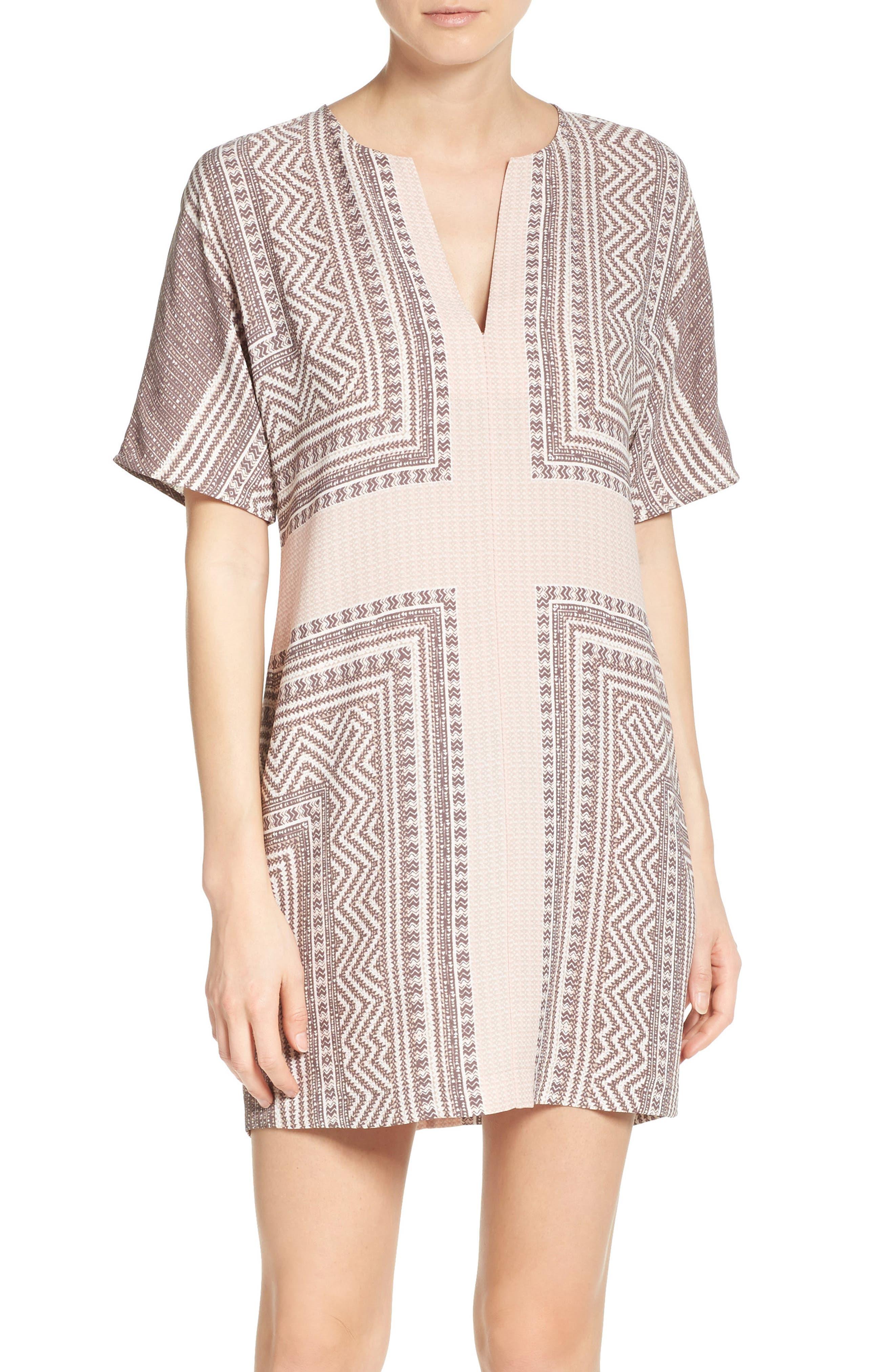 Main Image - BCBGMAXAZRIA Scarf Print Dress