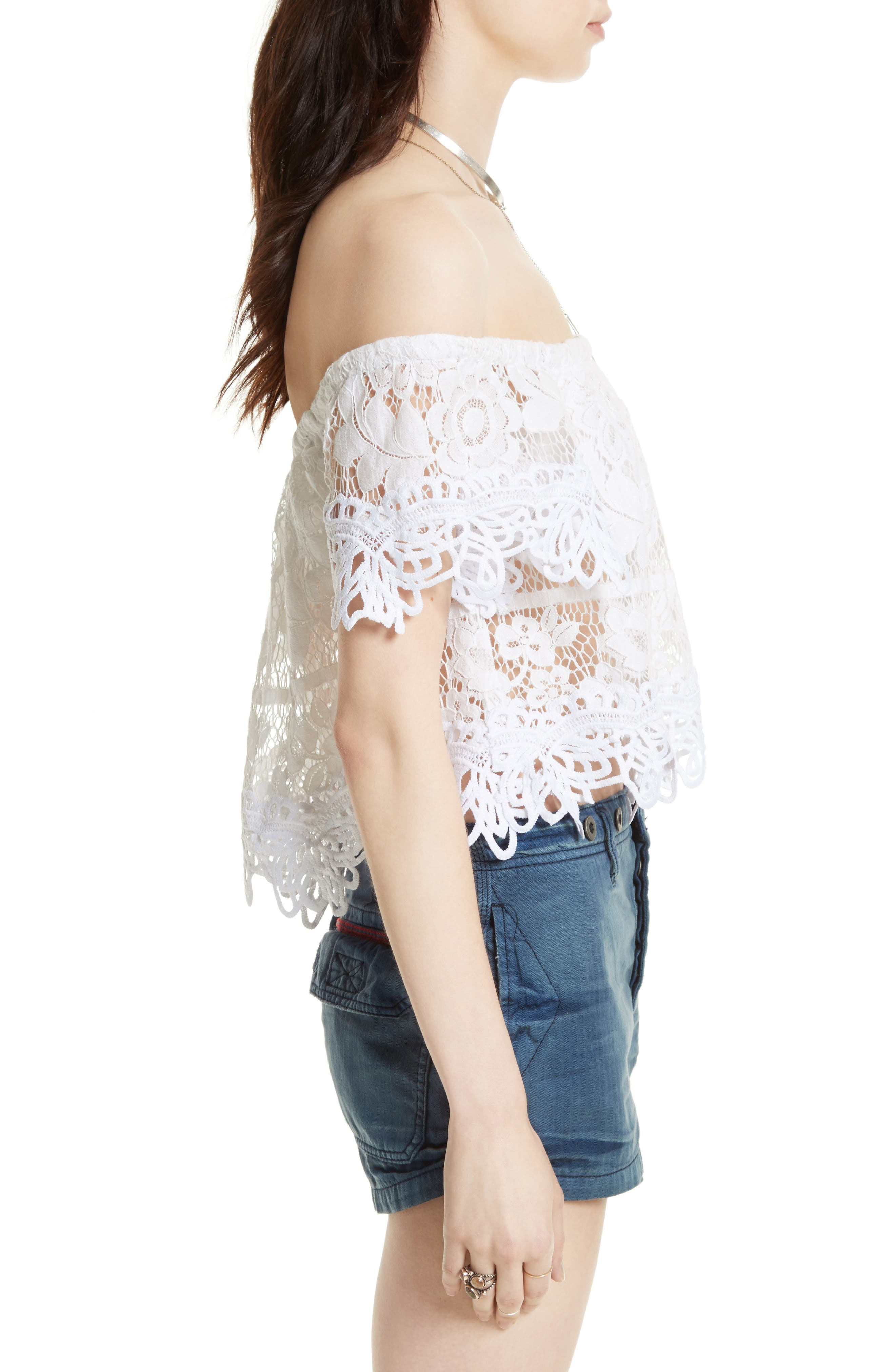 Alternate Image 3  - Free People Lace Off the Shoulder Tank