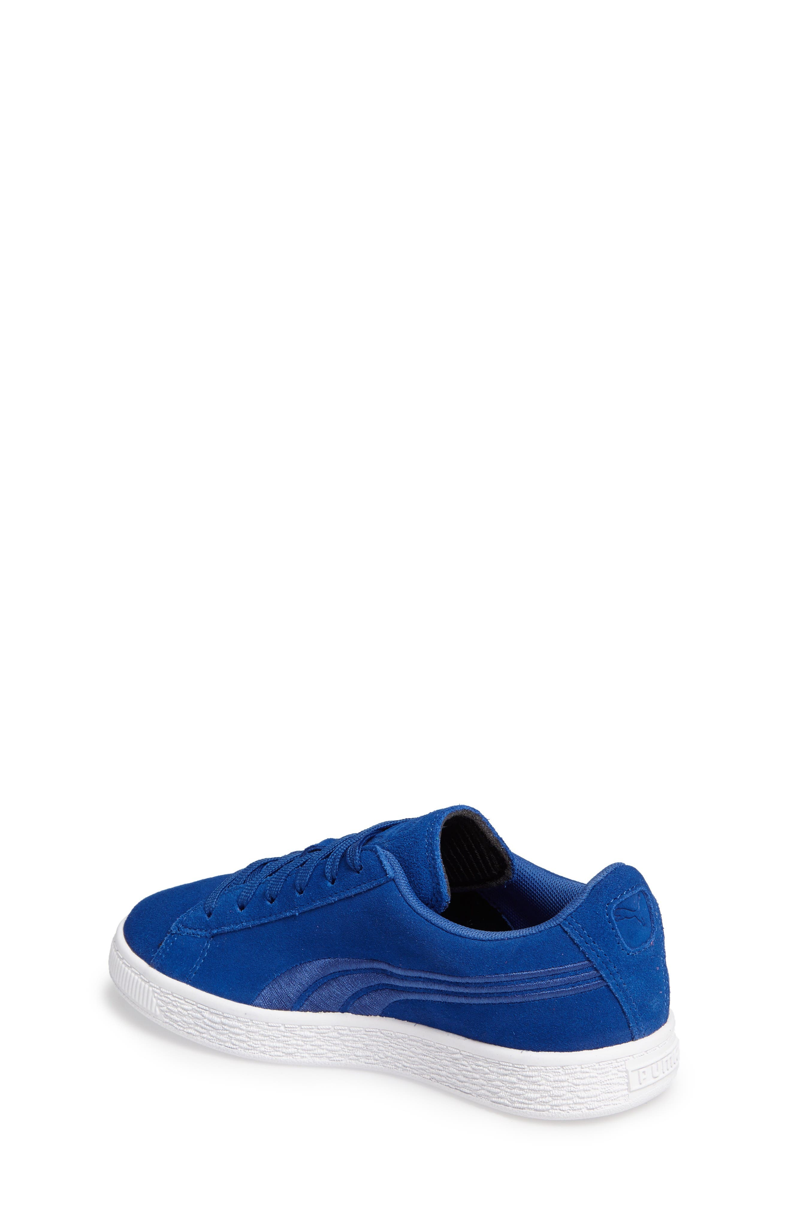 Classic Badge Sneaker,                             Alternate thumbnail 2, color,                             Blue