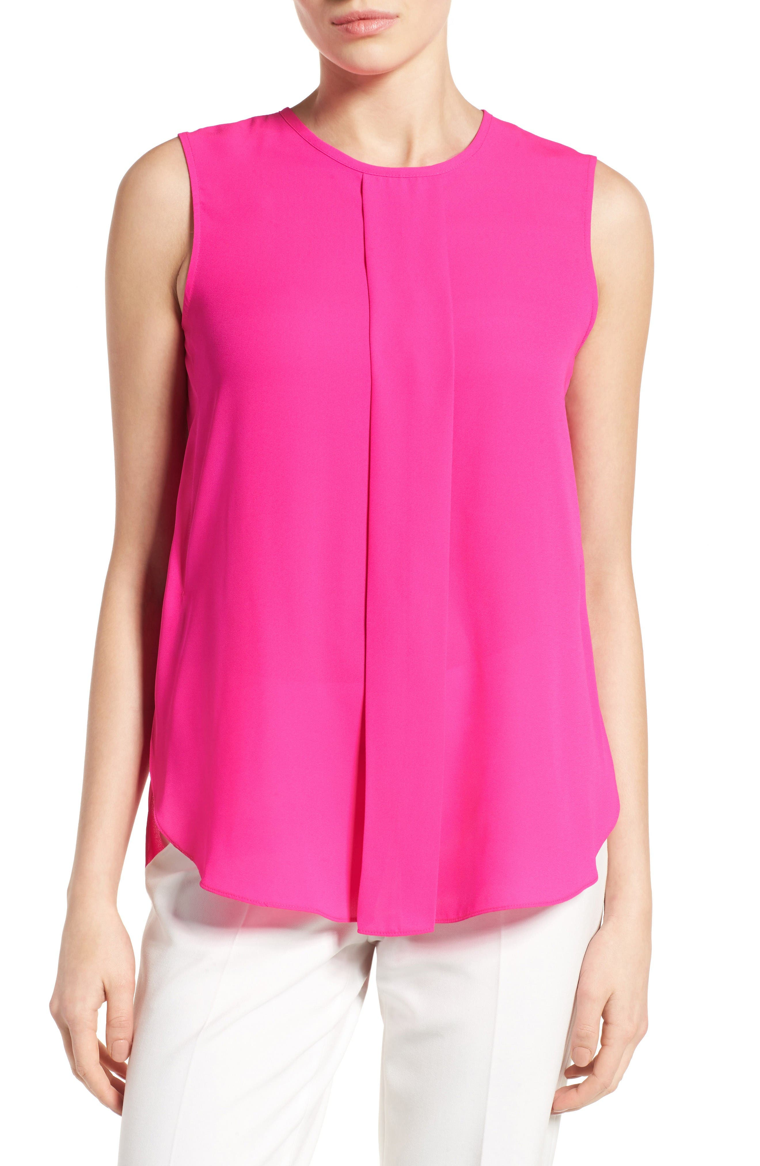 Main Image - Vince Camuto Center Pleat Sleeveless Blouse