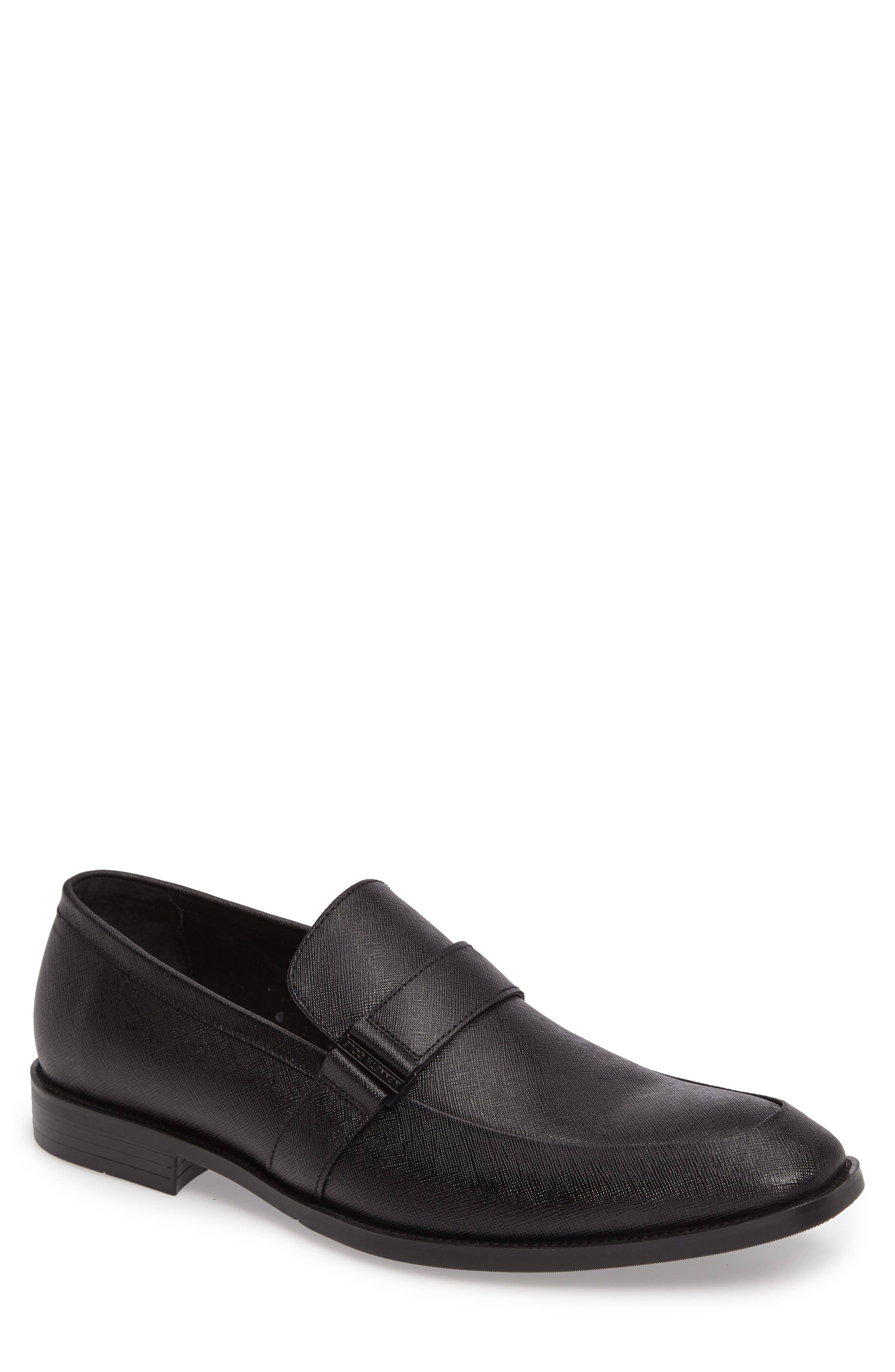 Major Ticket Loafer,                             Main thumbnail 1, color,                             Black Leather