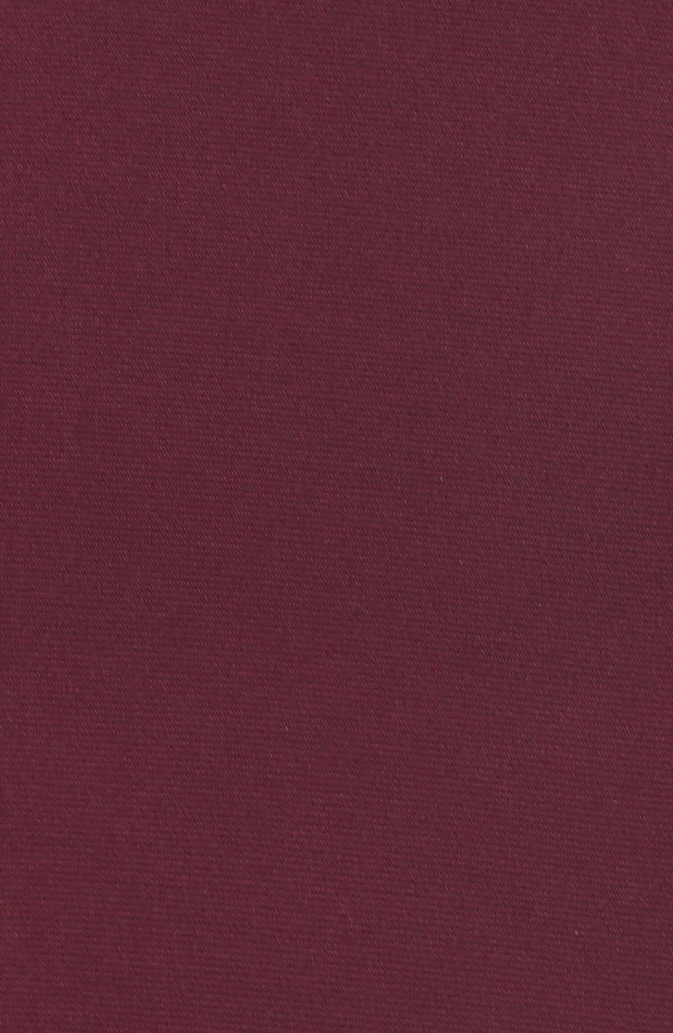 Jersey Cutout Bodice Gown,                             Alternate thumbnail 5, color,                             Wine