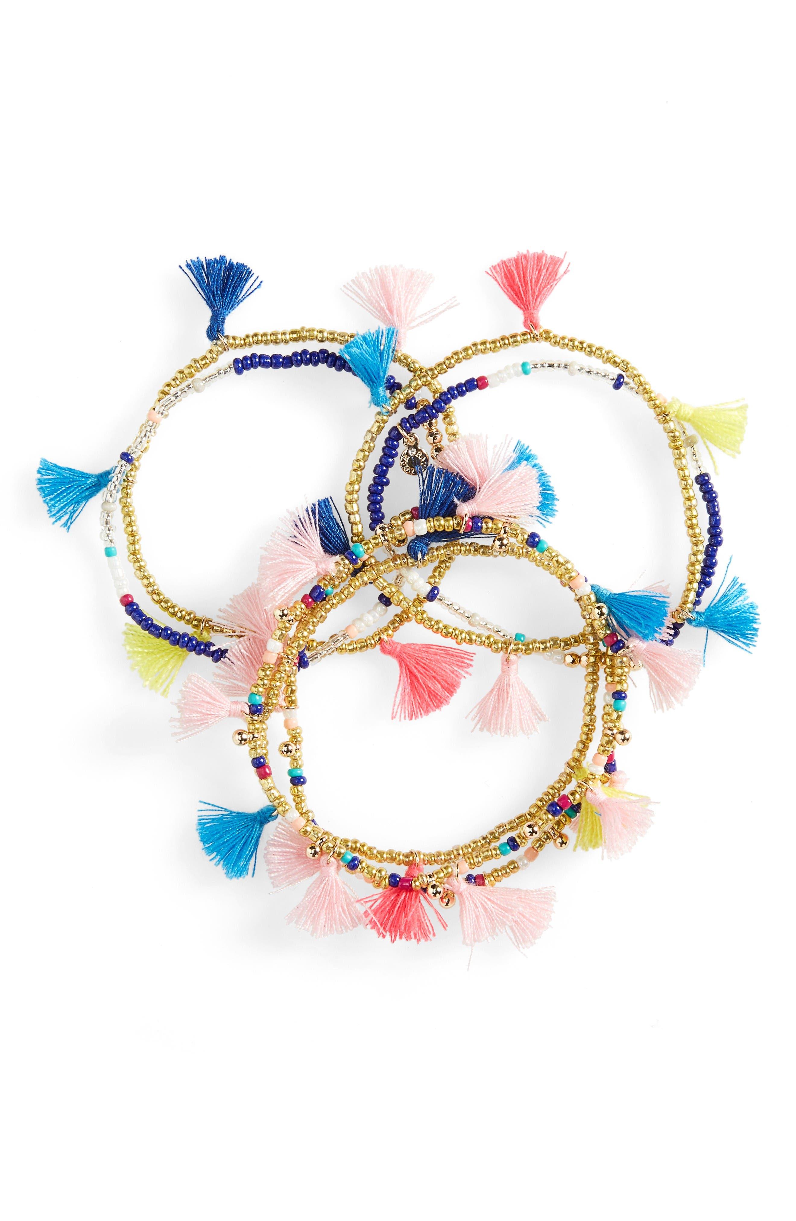 Alternate Image 1 Selected - BaubleBar Indy Set of 7 Stretch Bracelets